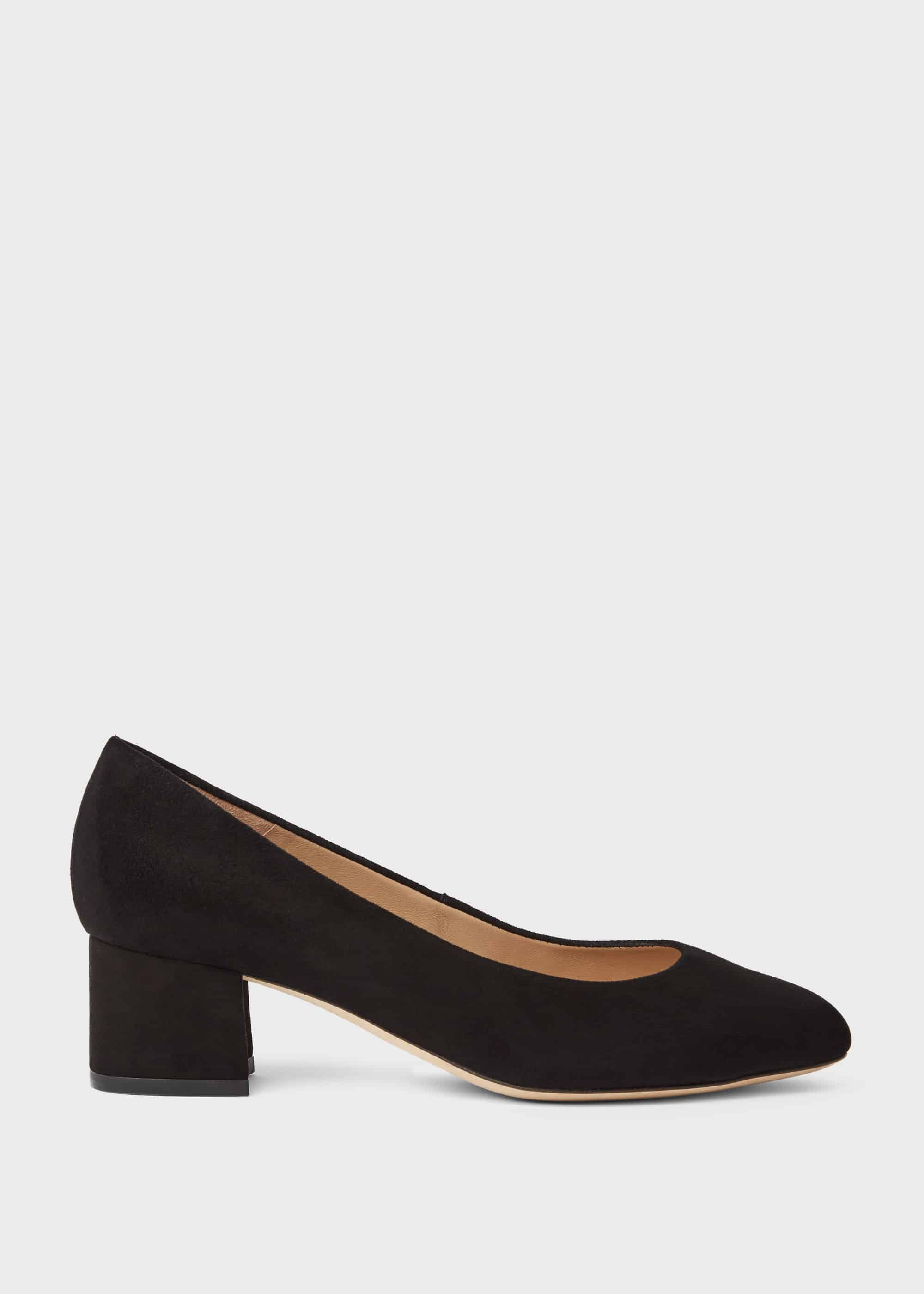 Hobbs Women Natalie Wide Fit Suede Block Heel Court Shoes