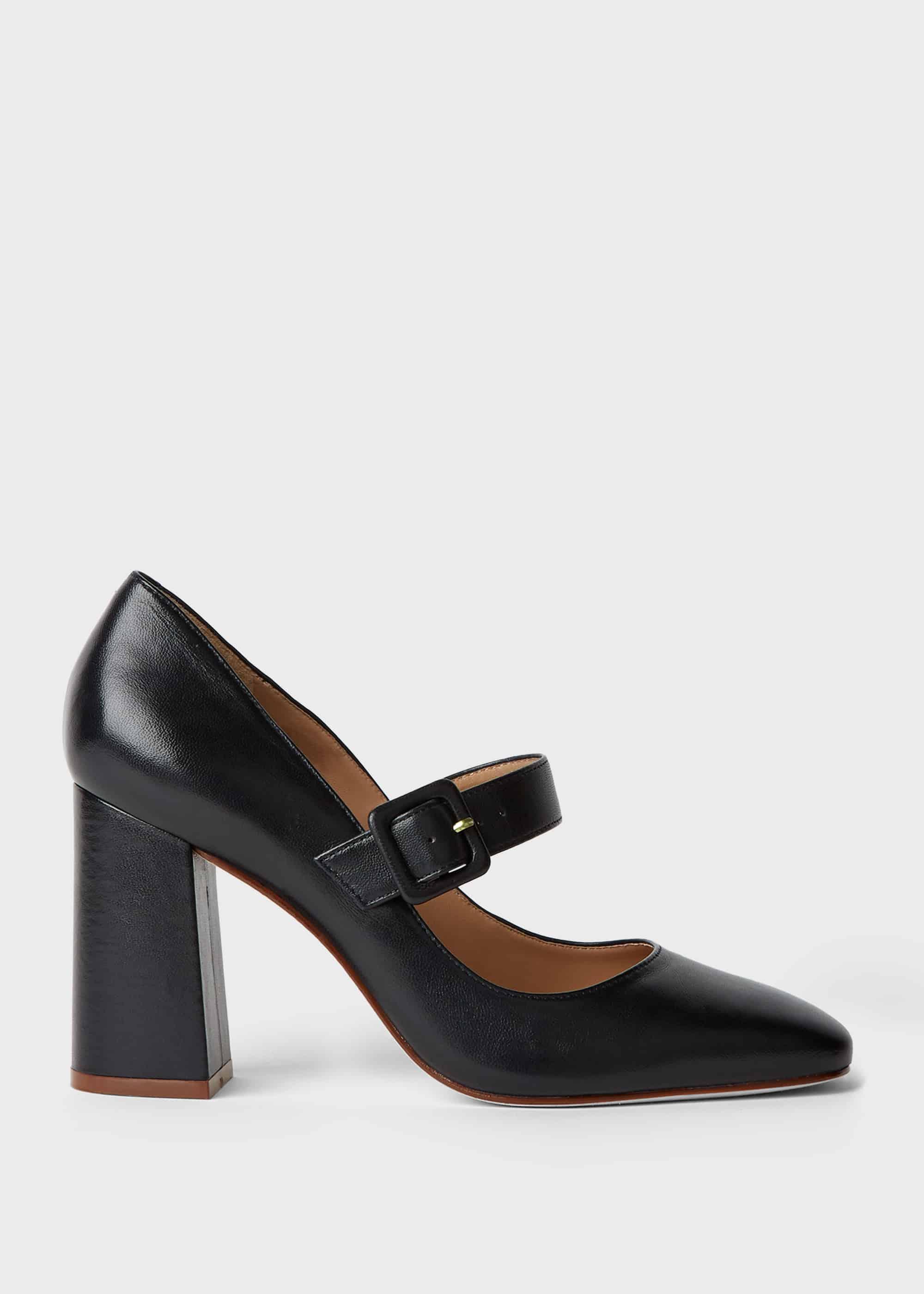 Hobbs Women Darcie Leather Block Heel Court Shoes