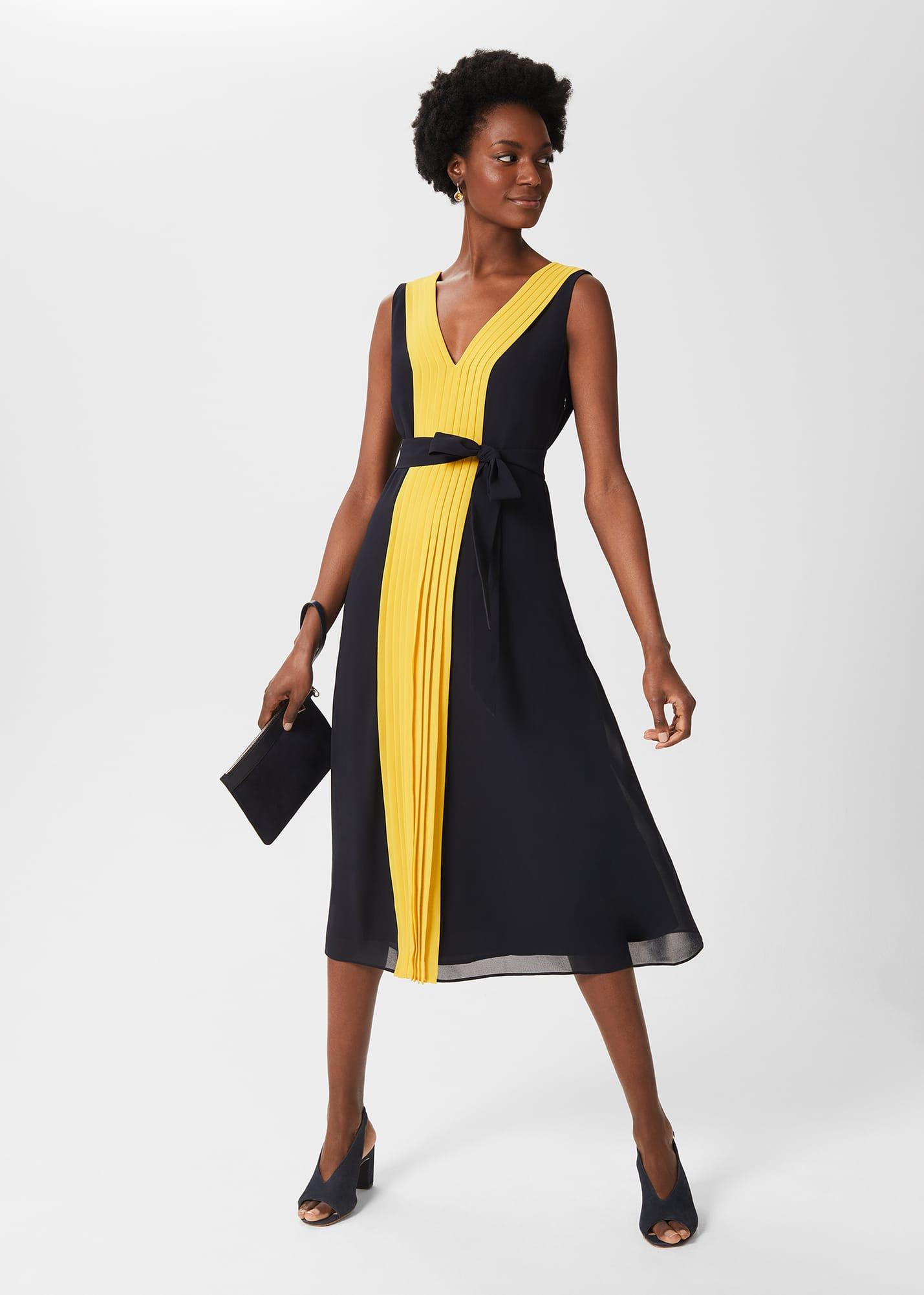 Hobbs Women Lila V Neck Midi Dress