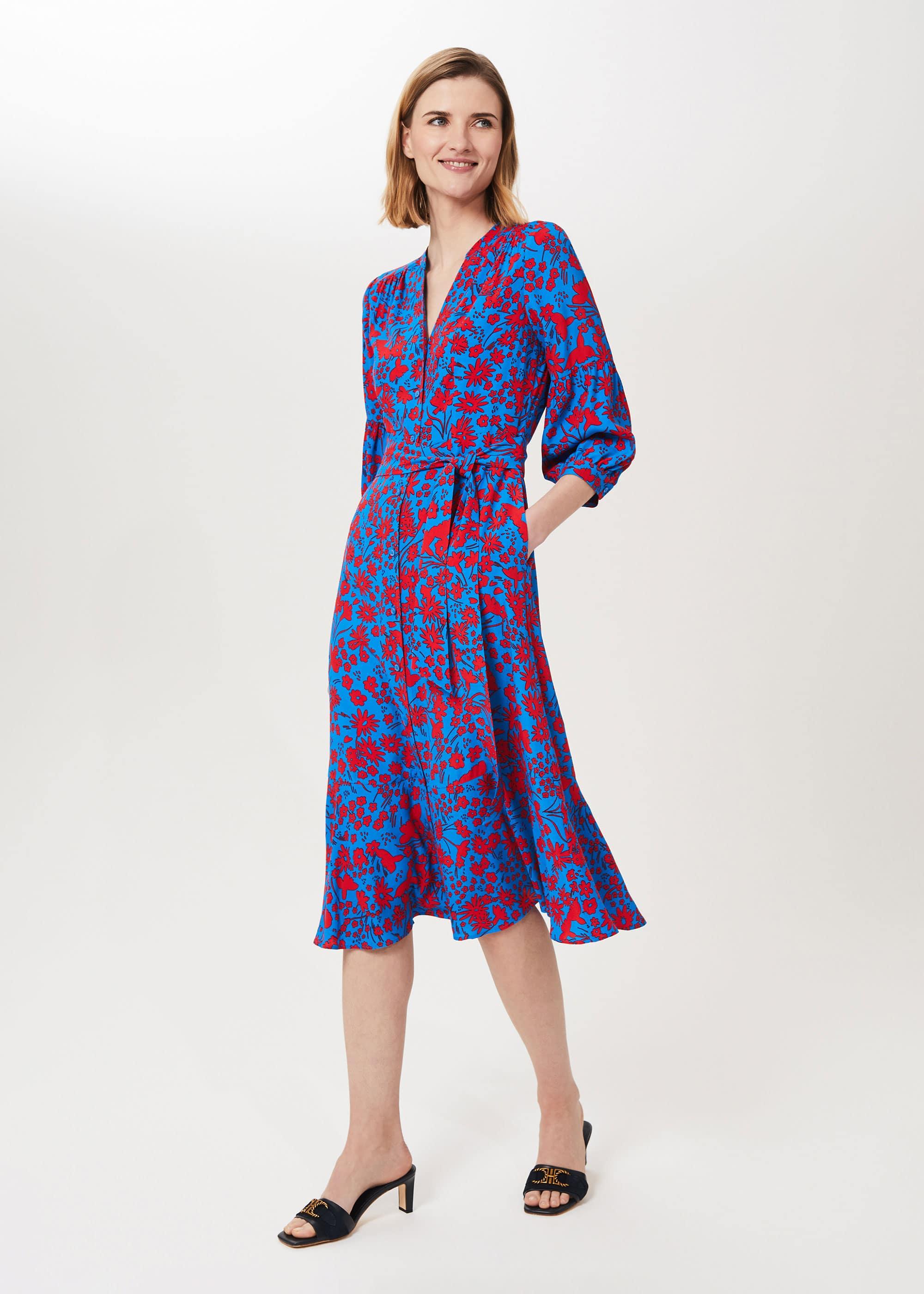 Hobbs Women Petite Carla Floral Midi Dress