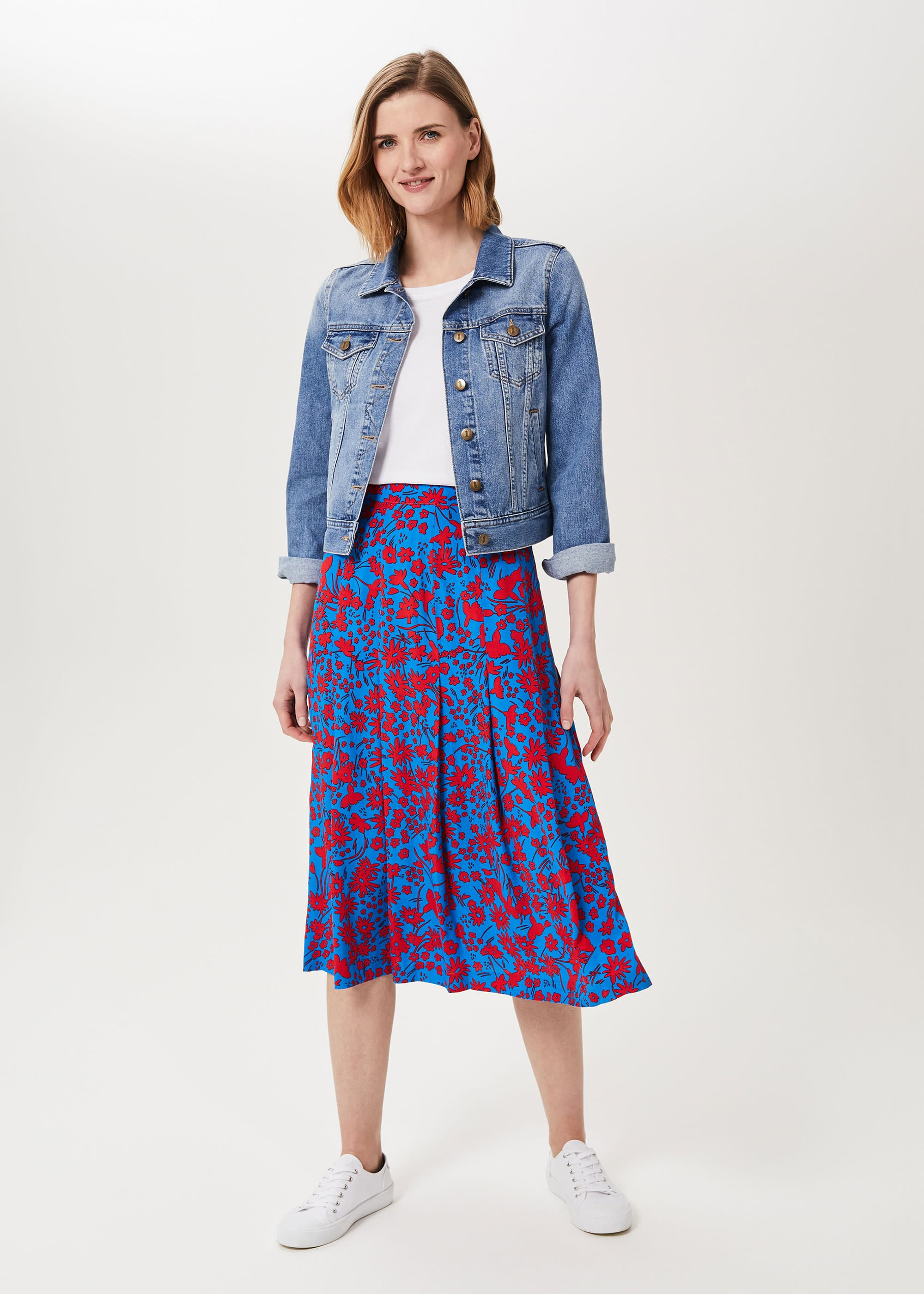 Hobbs Women Diane Floral Midi Skirt