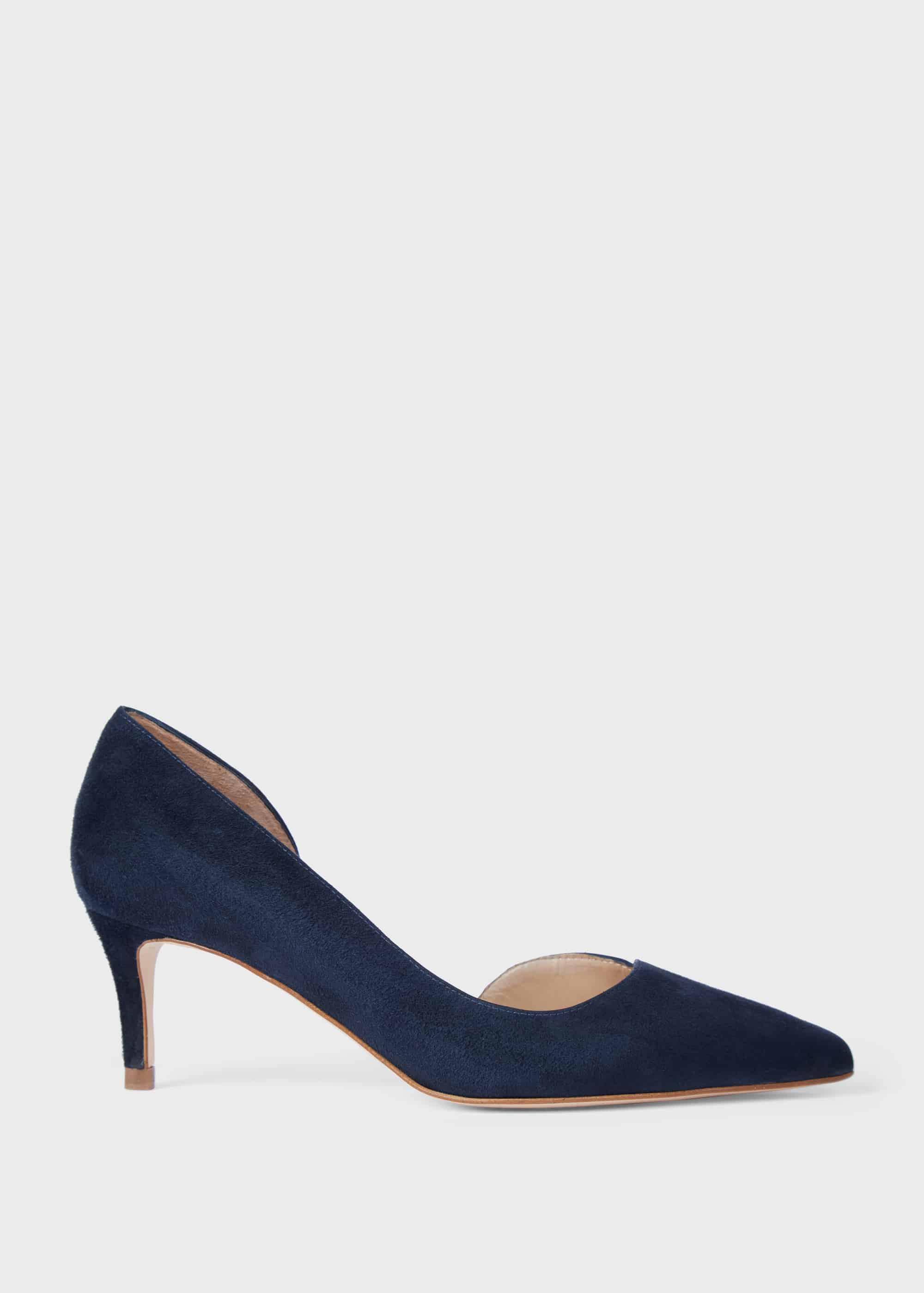 Hobbs Women Selena Suede D'Orsay Court Shoes
