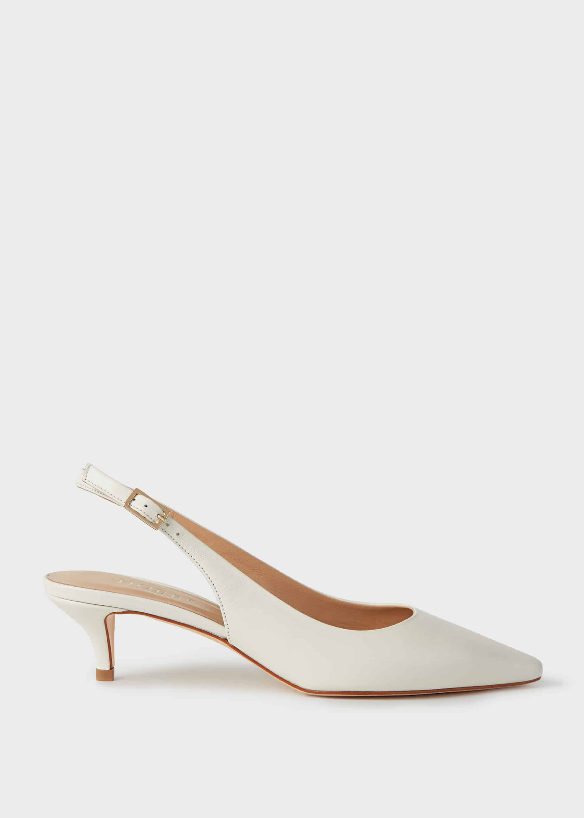 Hobbs Women Annie Leather Slingback Court Shoes