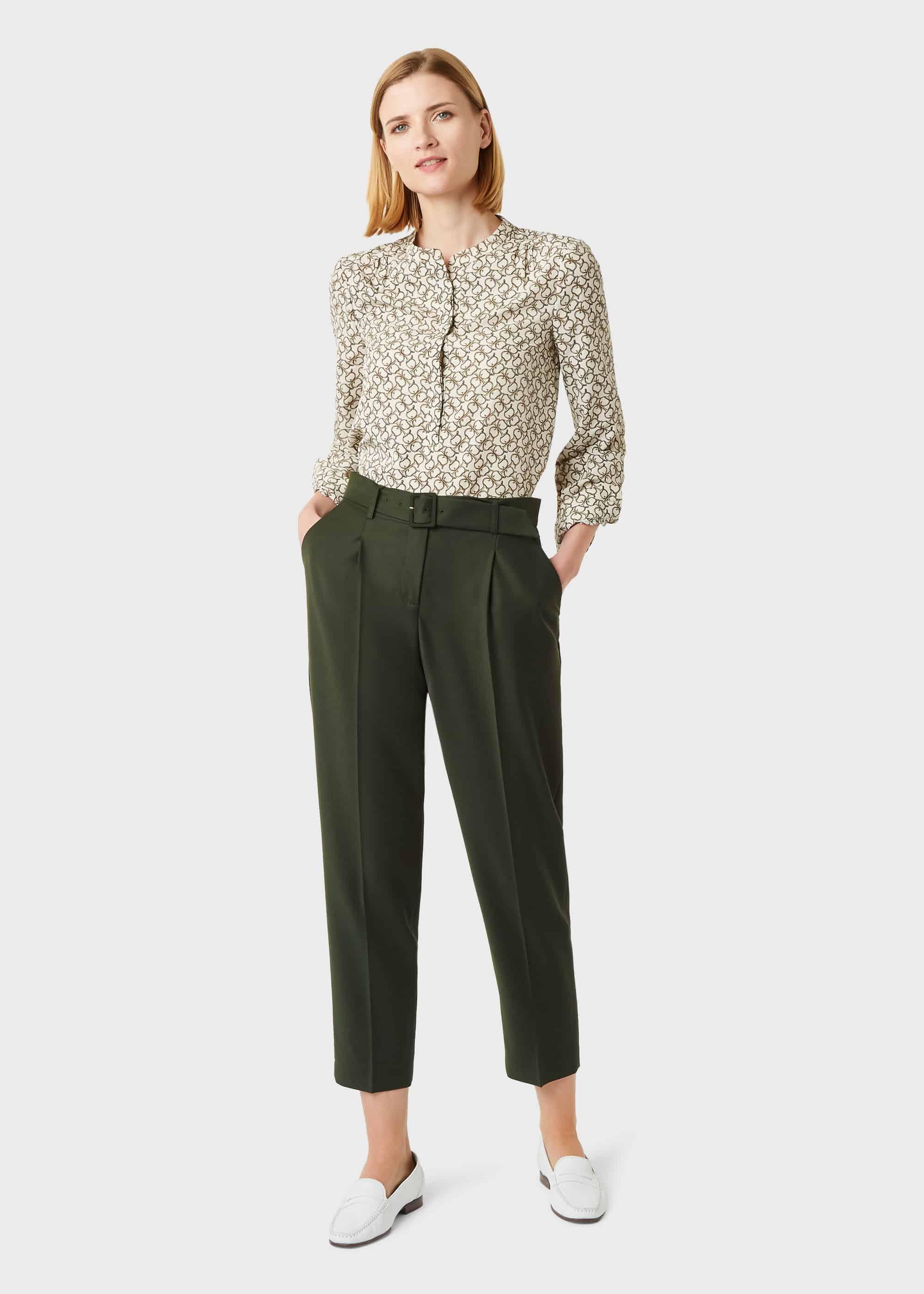 Hobbs Women Harrietta Tapered trousers With Wool