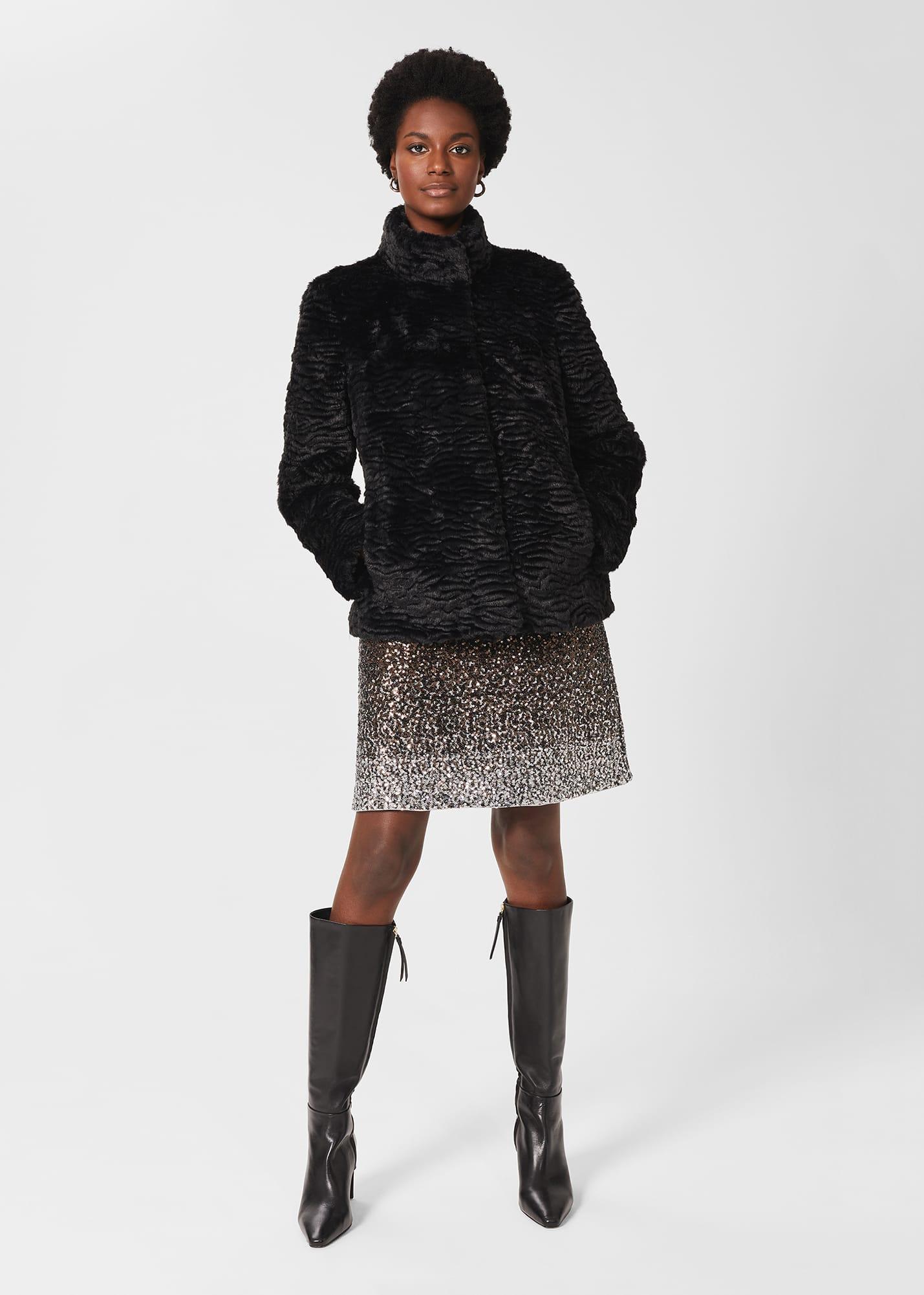 Hobbs Women Lia Faux Fur Coat