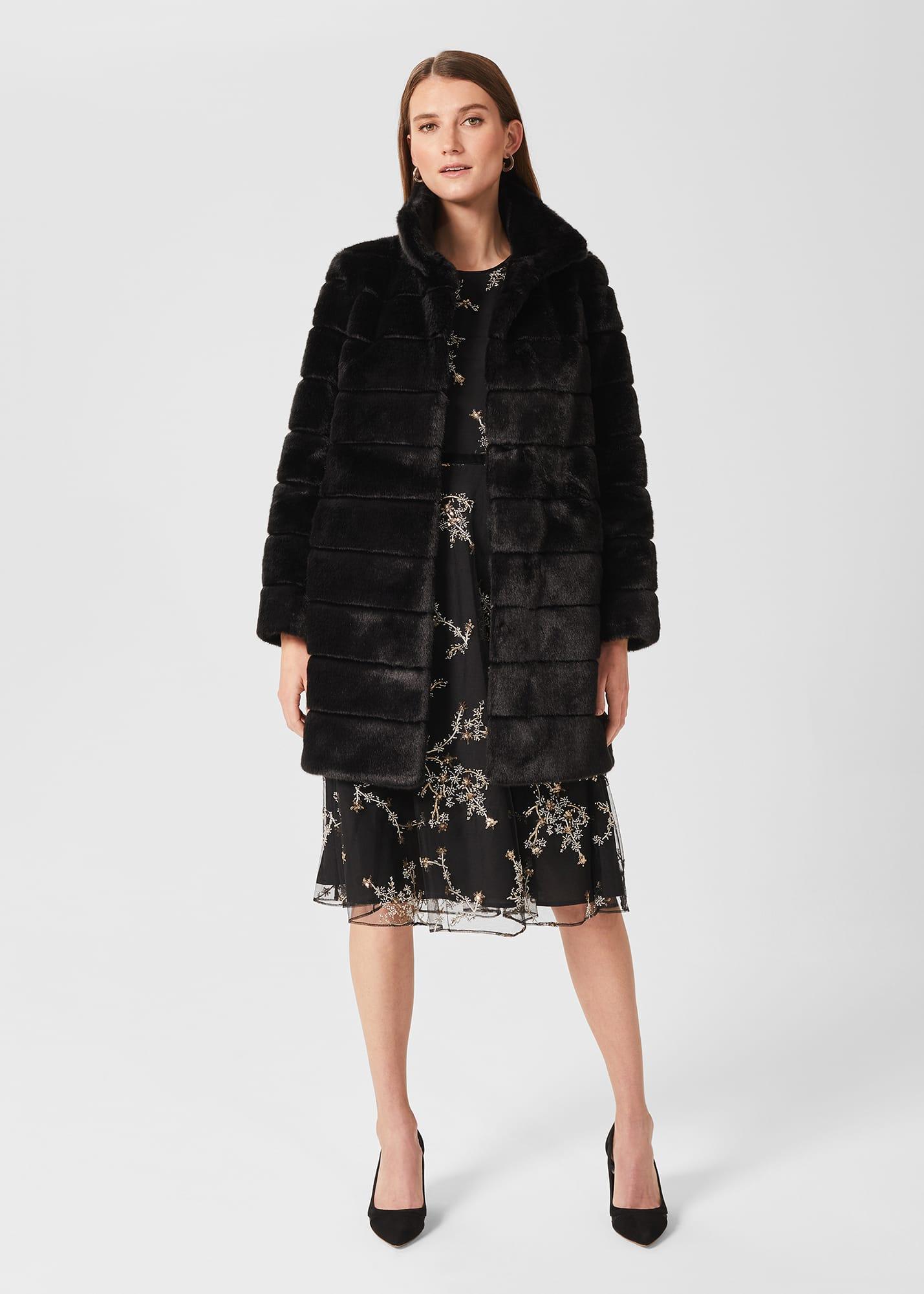 Hobbs Women Ros Faux Fur Coat