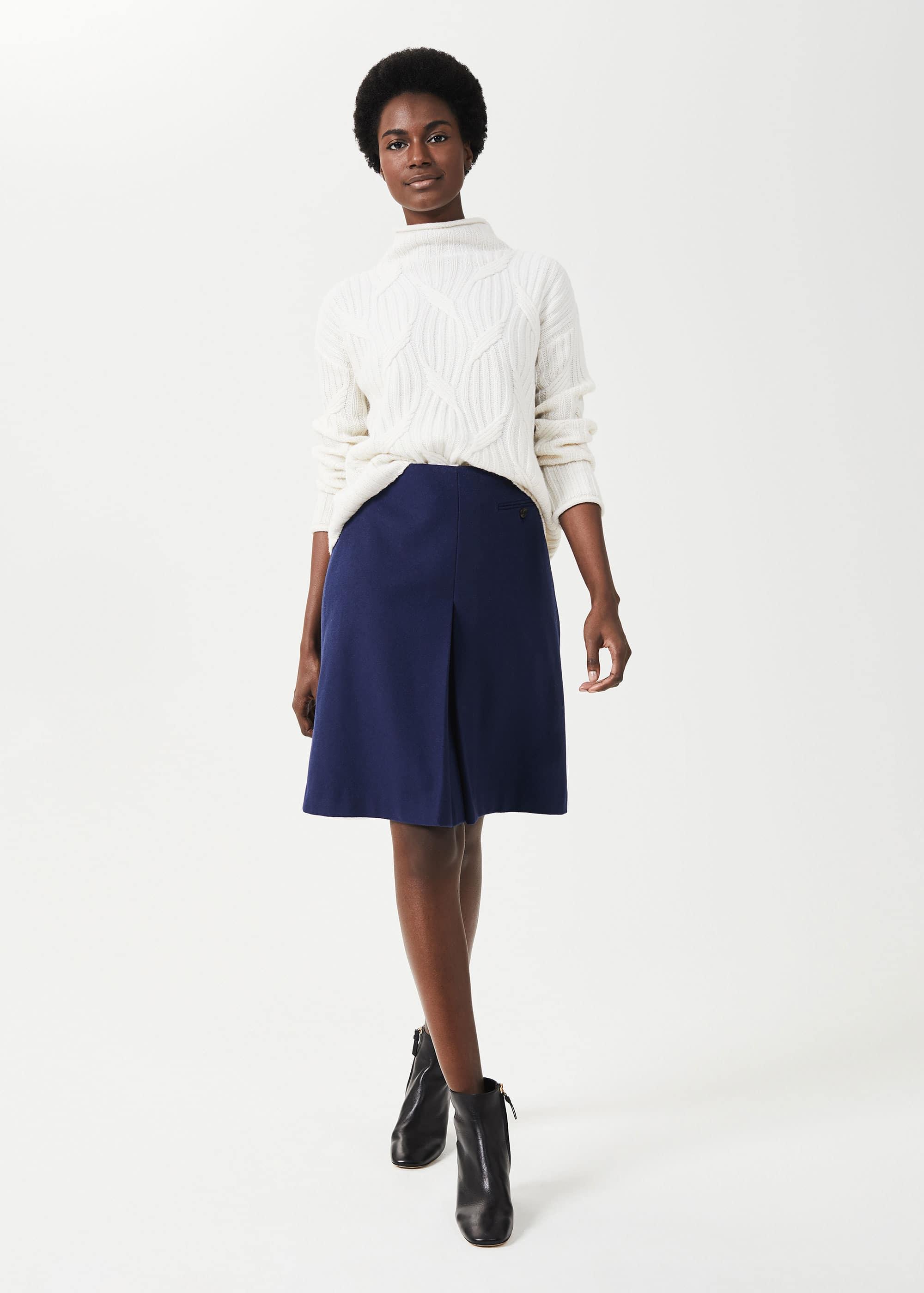 Hobbs Women Allegra Wool Cashmere A Line Skirt