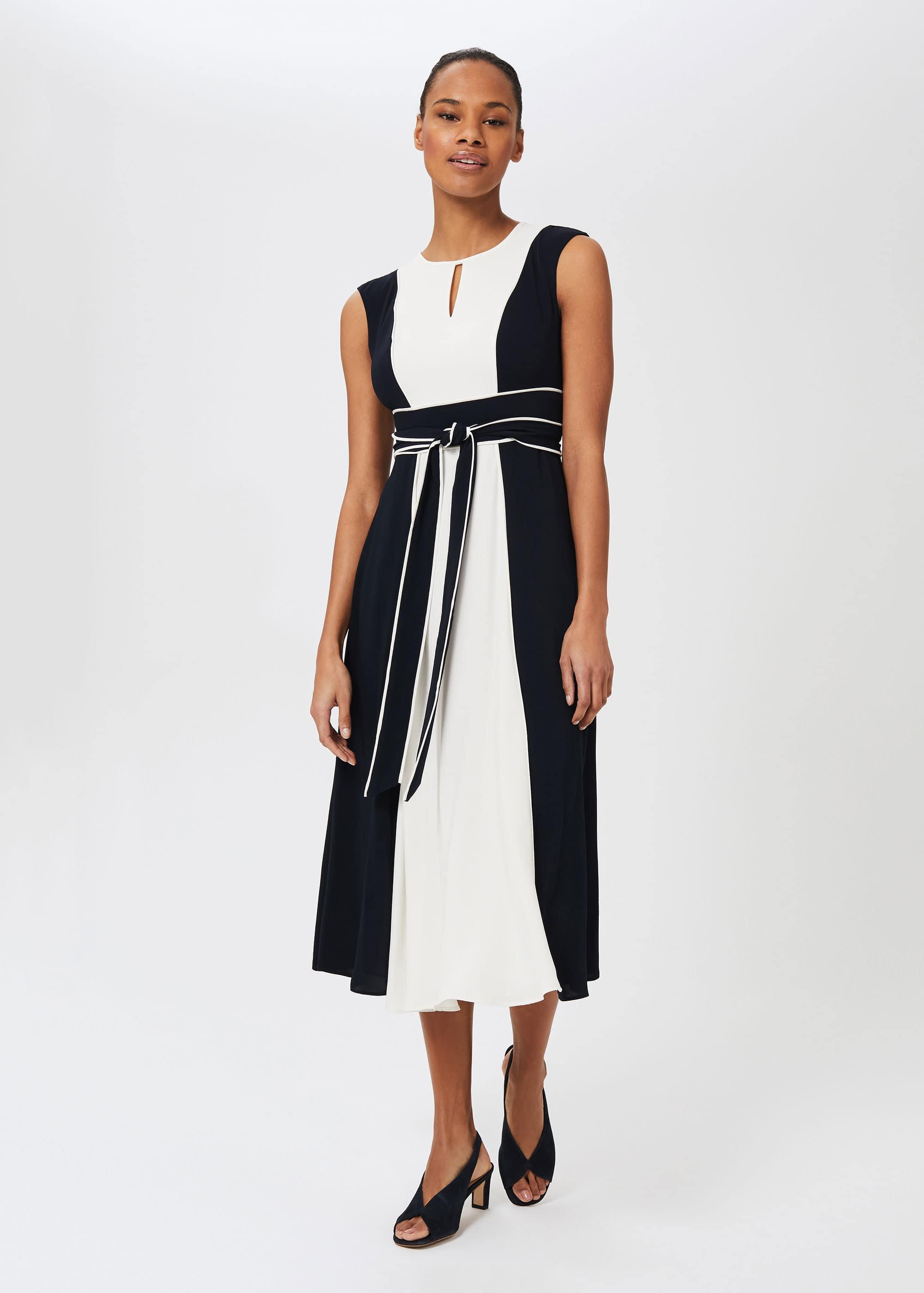 Hobbs Women Rae Colourblock Fit And Flare Dress