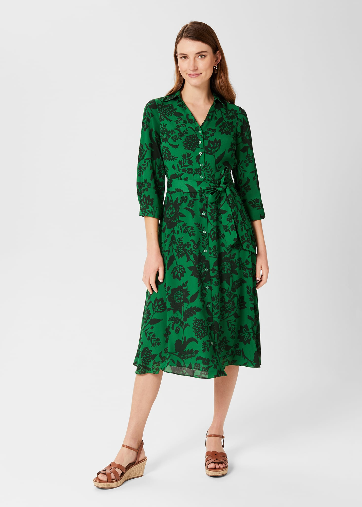 Hobbs Women Dalia Floral Fit And Flare Dress