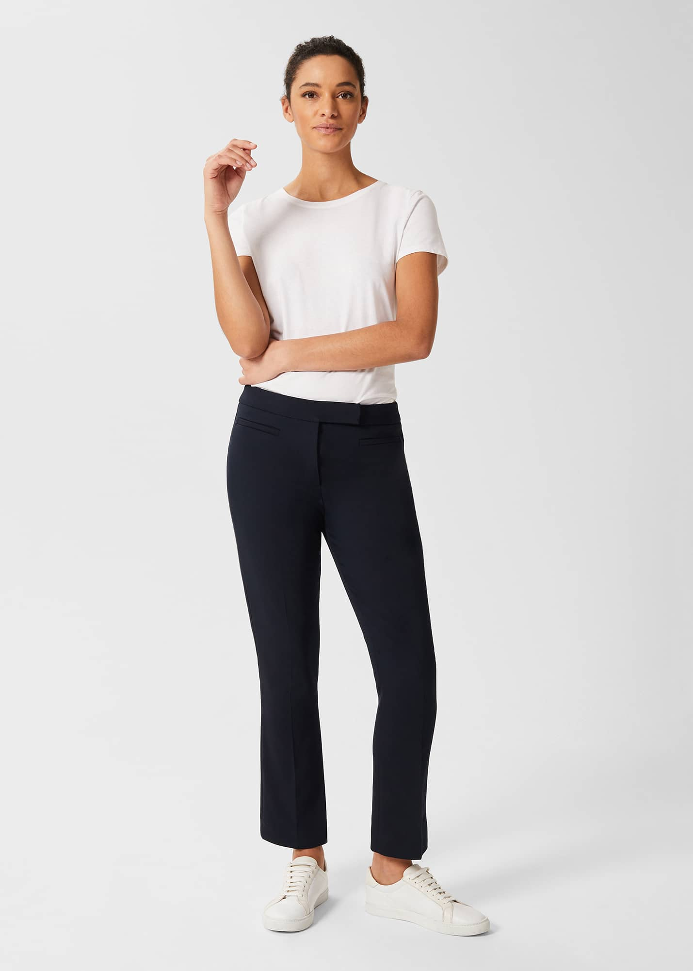 Hobbs Women Petite Annie Slim trousers With Stretch