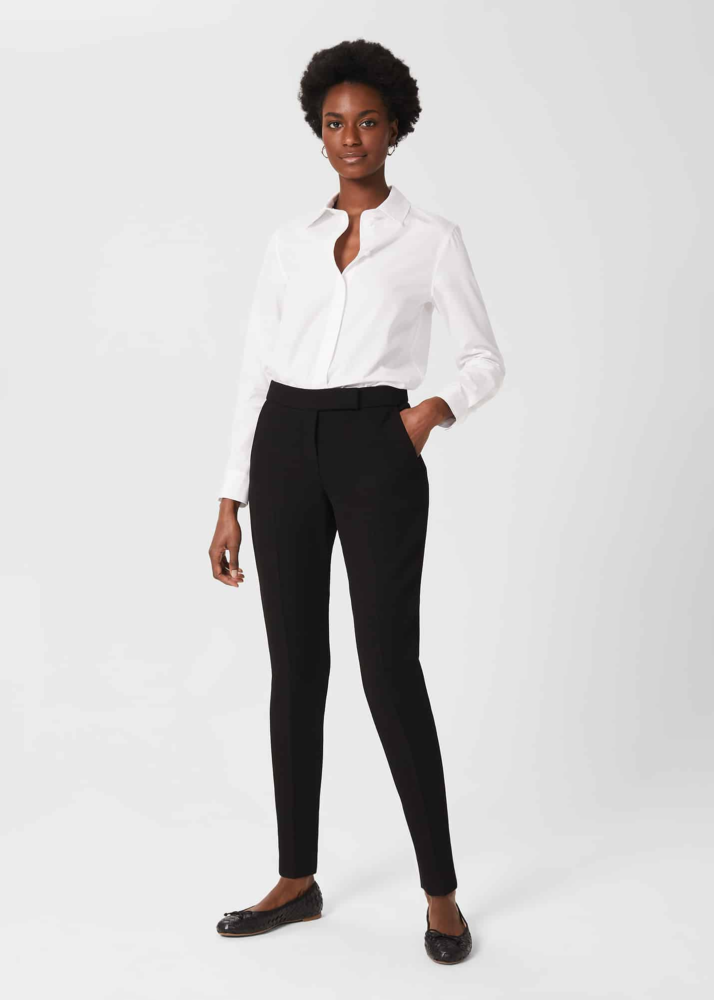 Hobbs Women Petite Ophelia Slim Trousers With Stretch