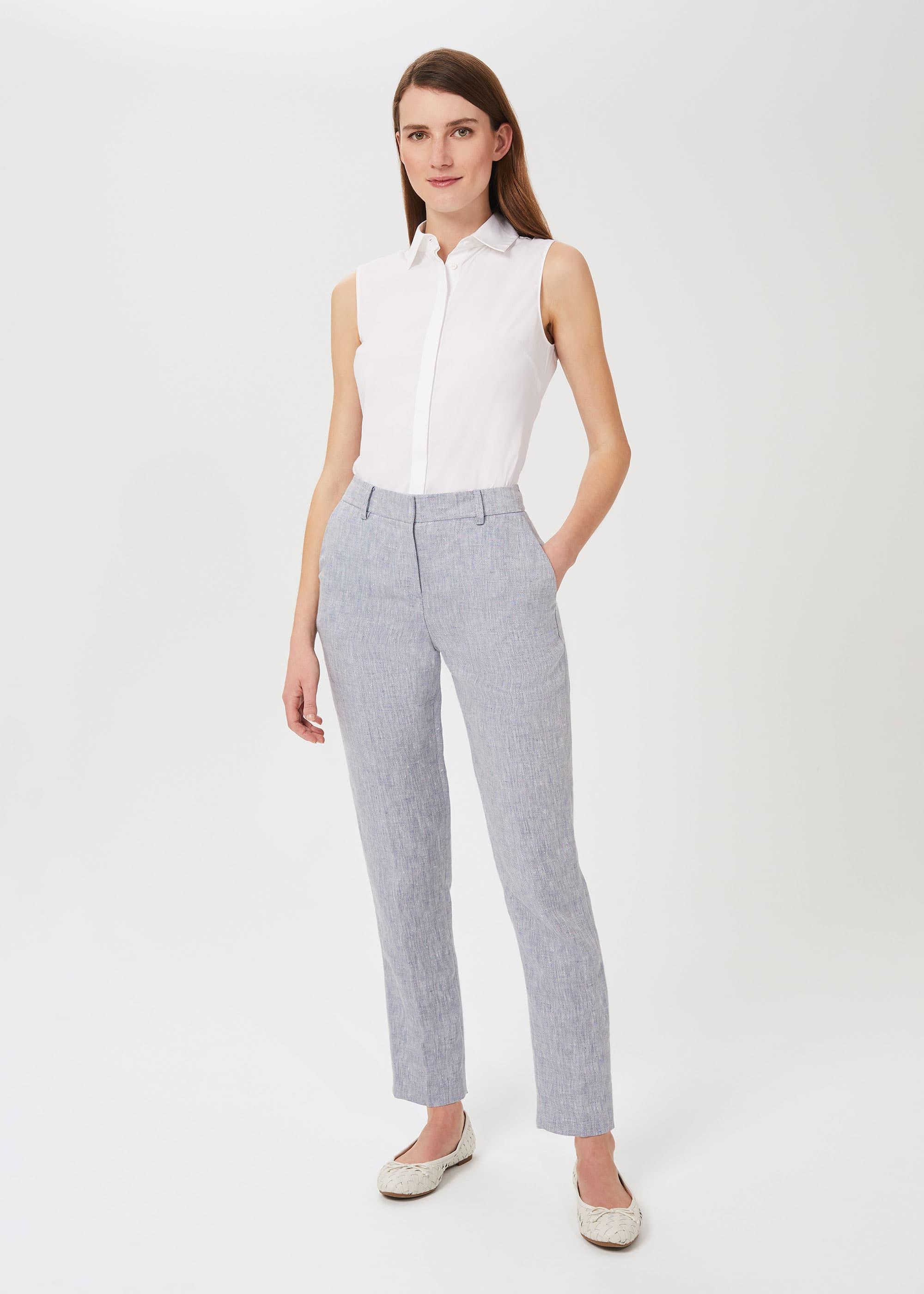 Hobbs Women Ivana Linen Tapered Trousers