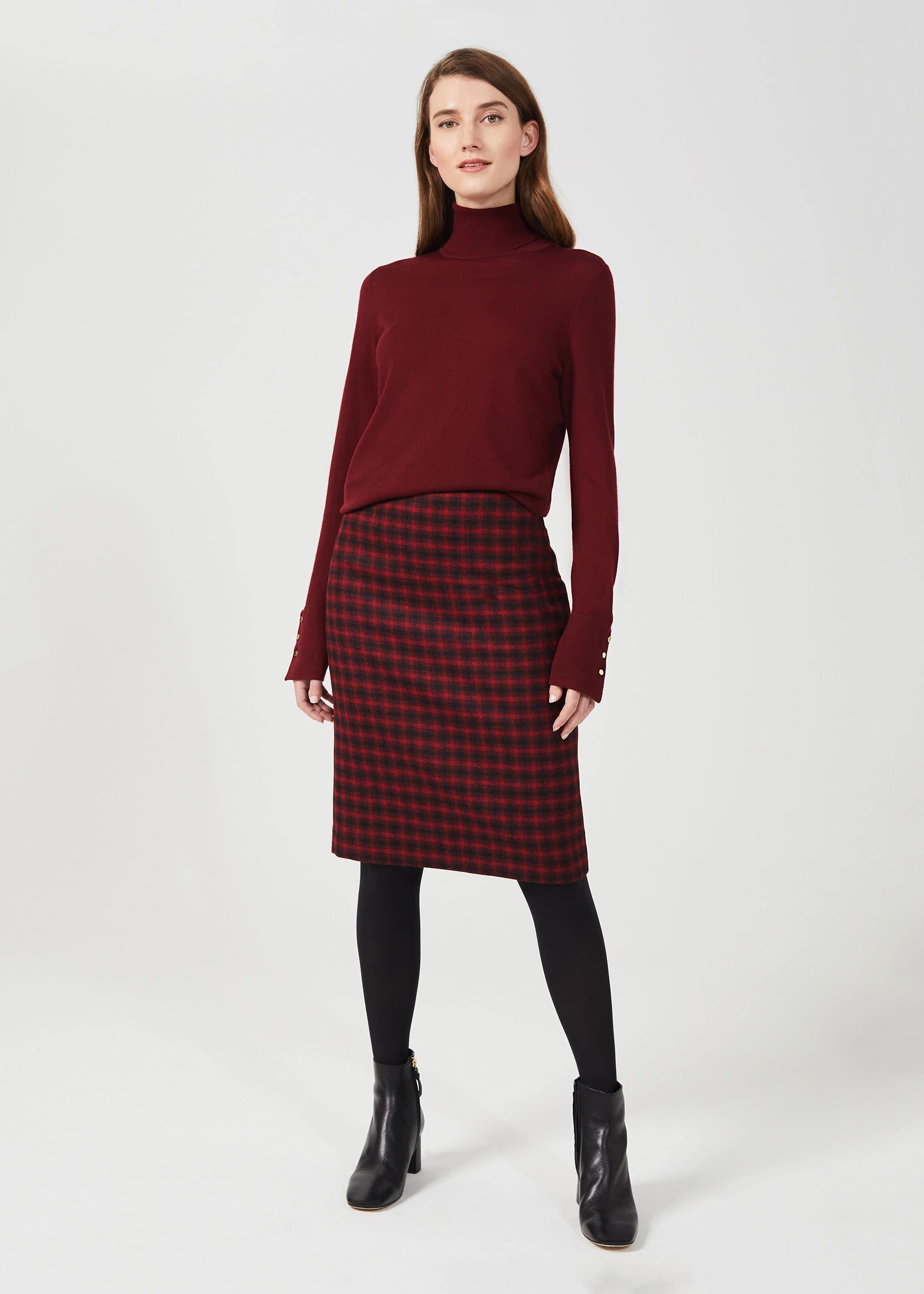 Hobbs Women Daphne Wool Pencil Skirt