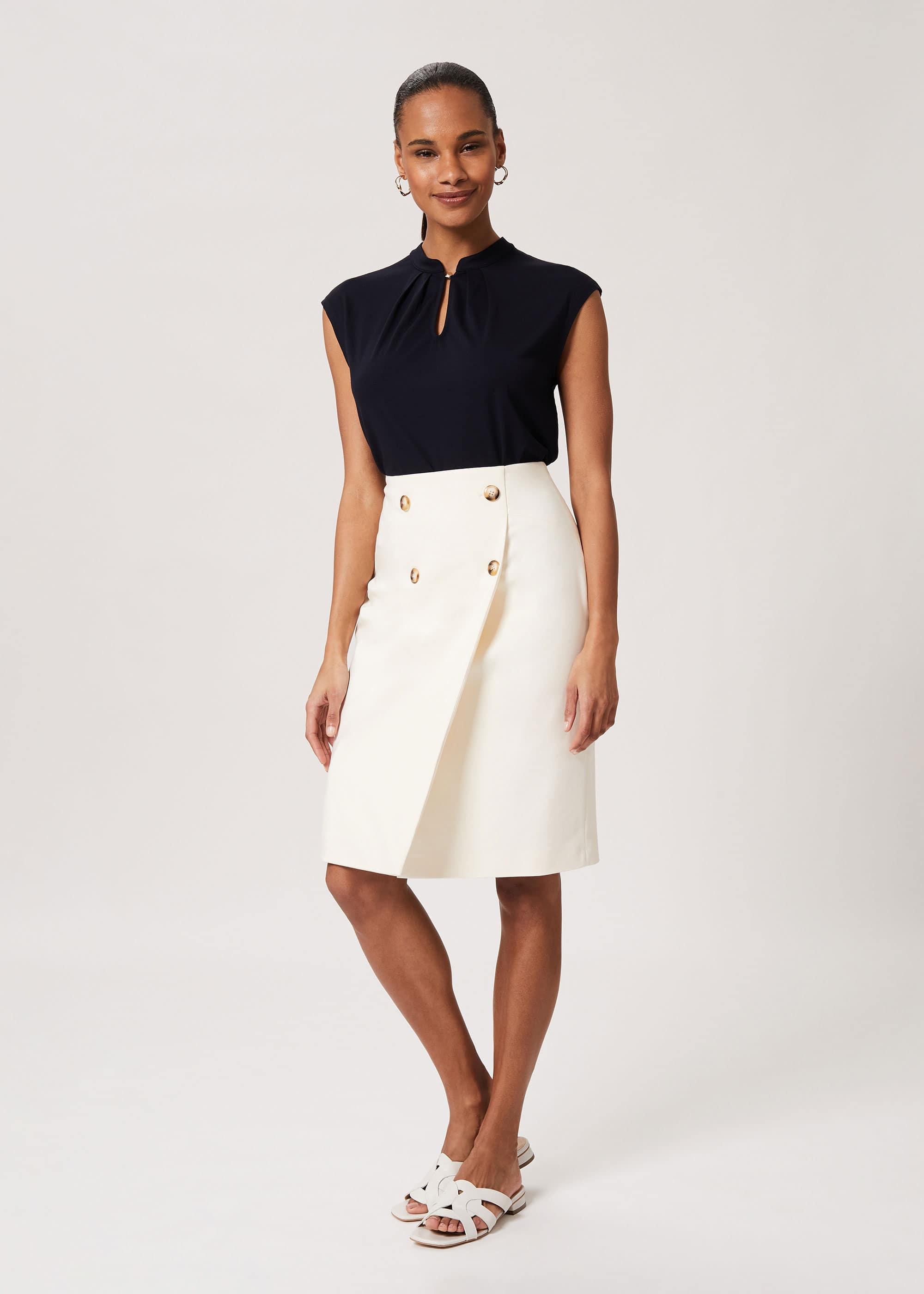 Hobbs Women Jasmine Cotton Blend Pencil Skirt