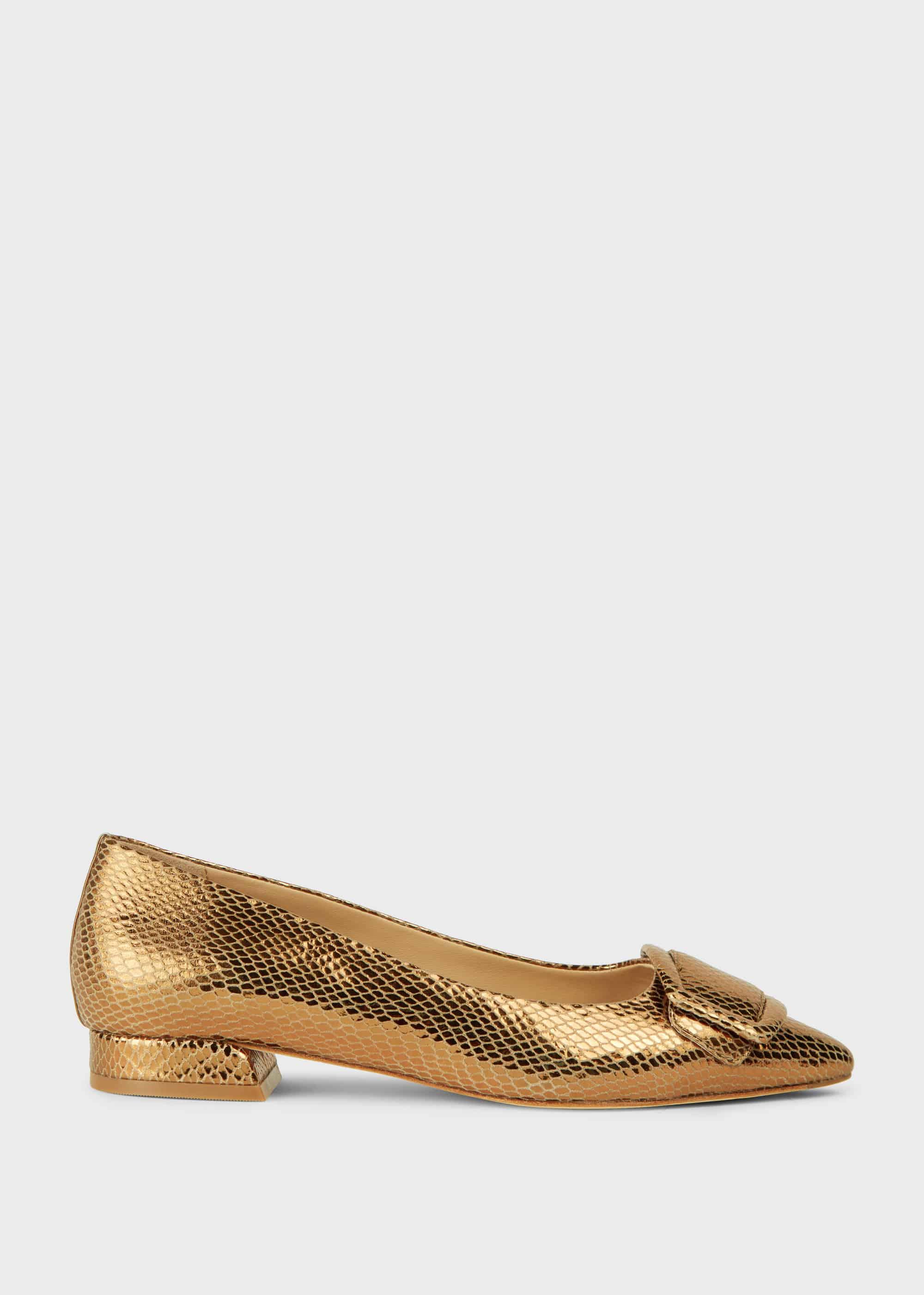 Hobbs Women Alison Leather Flat Shoes