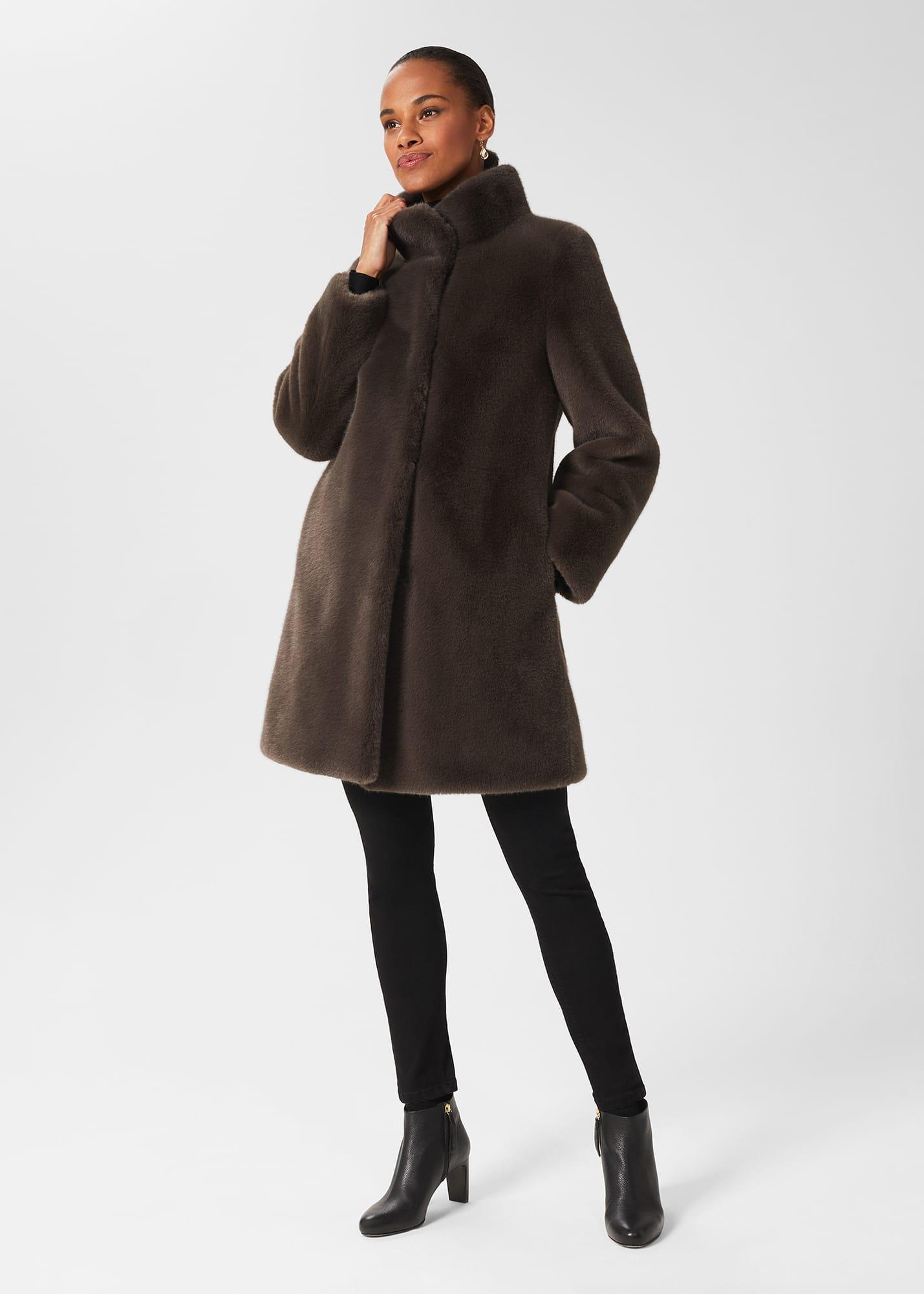 Hobbs Women Maddox Faux Fur Coat