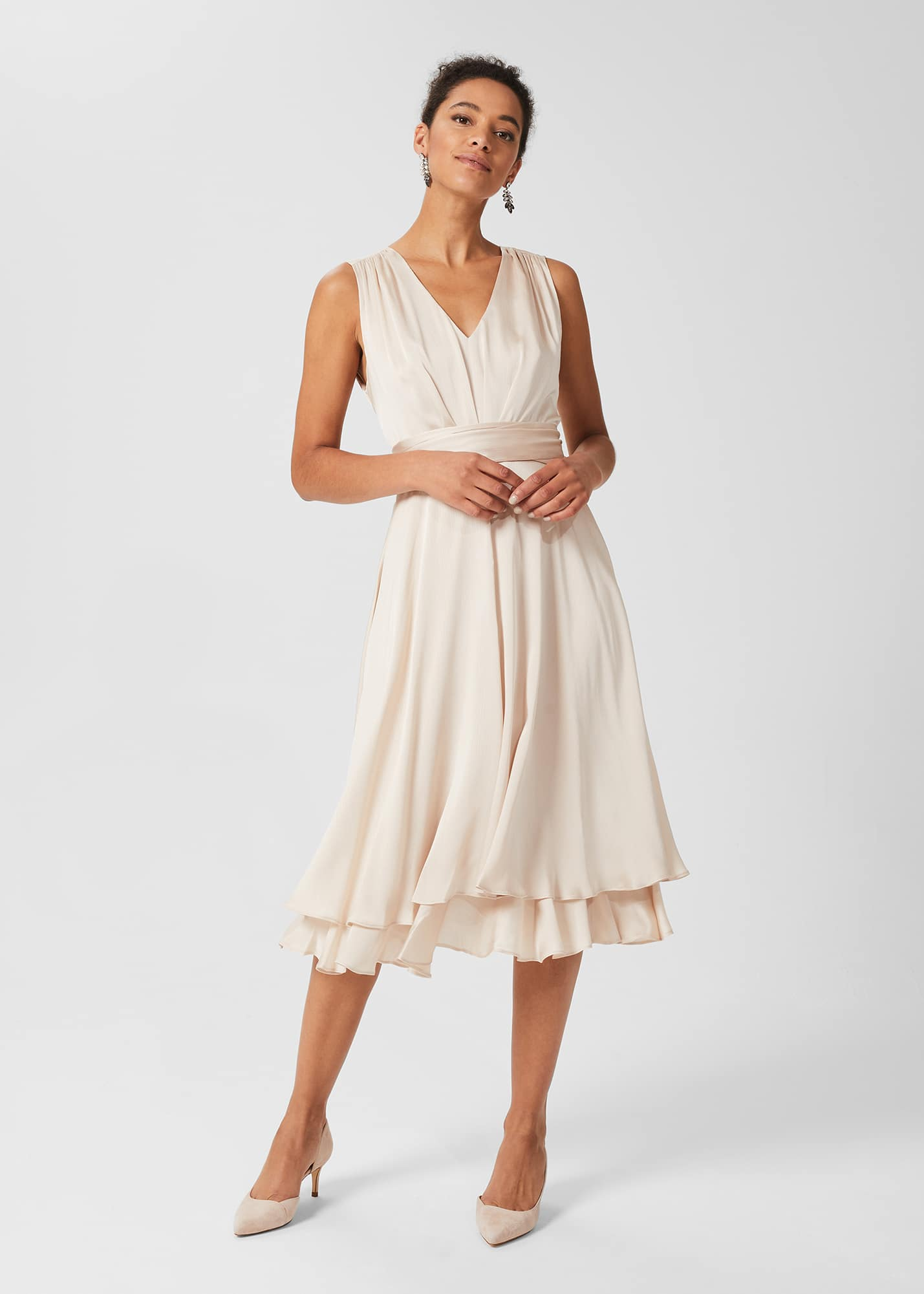 Hobbs Women Viola V Neck Dress