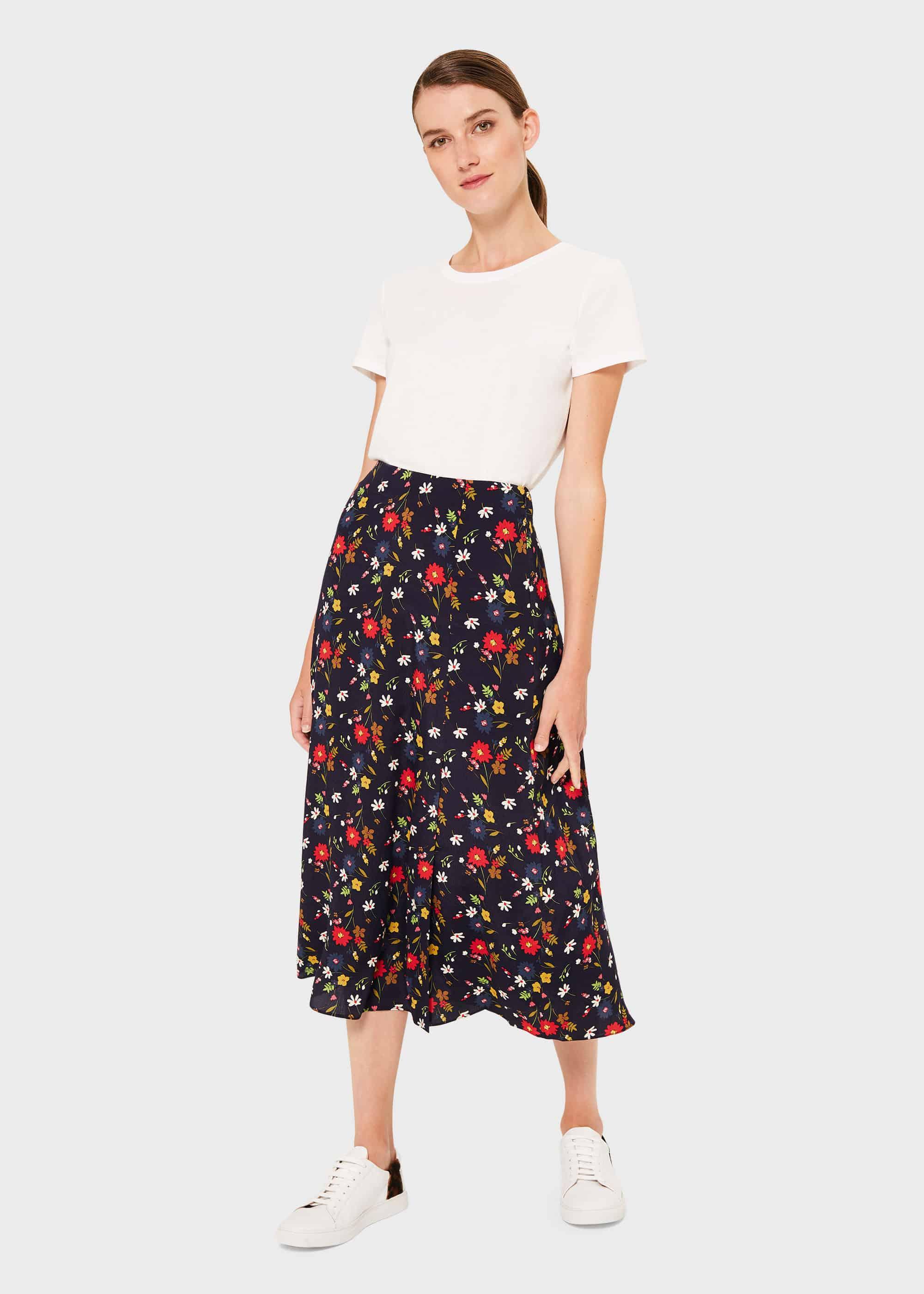 Hobbs Women Annette Floral Midi Skirt