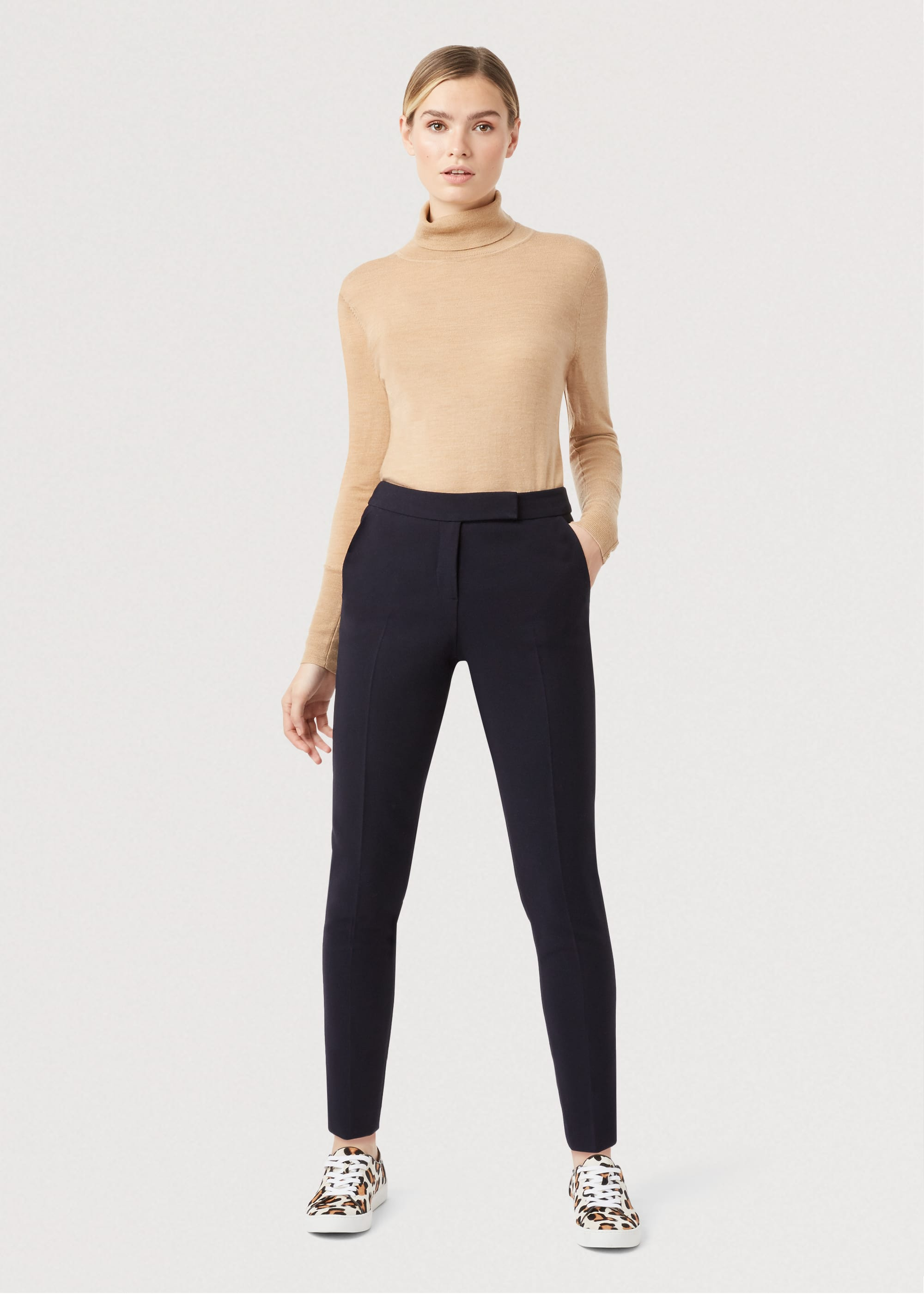Hobbs Women Petite Leila Slim trousers With Stretch