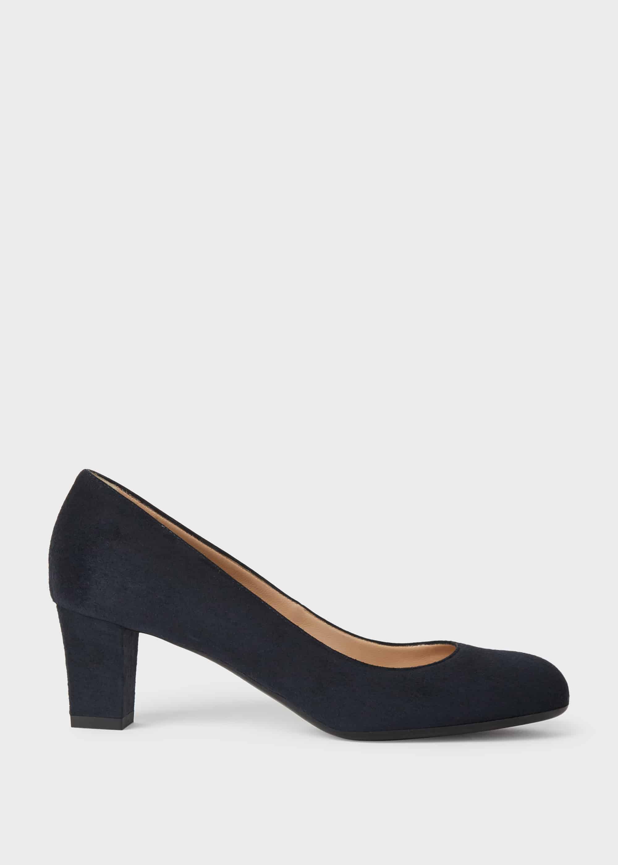 Hobbs Women Amber Suede Block Heel Court Shoes