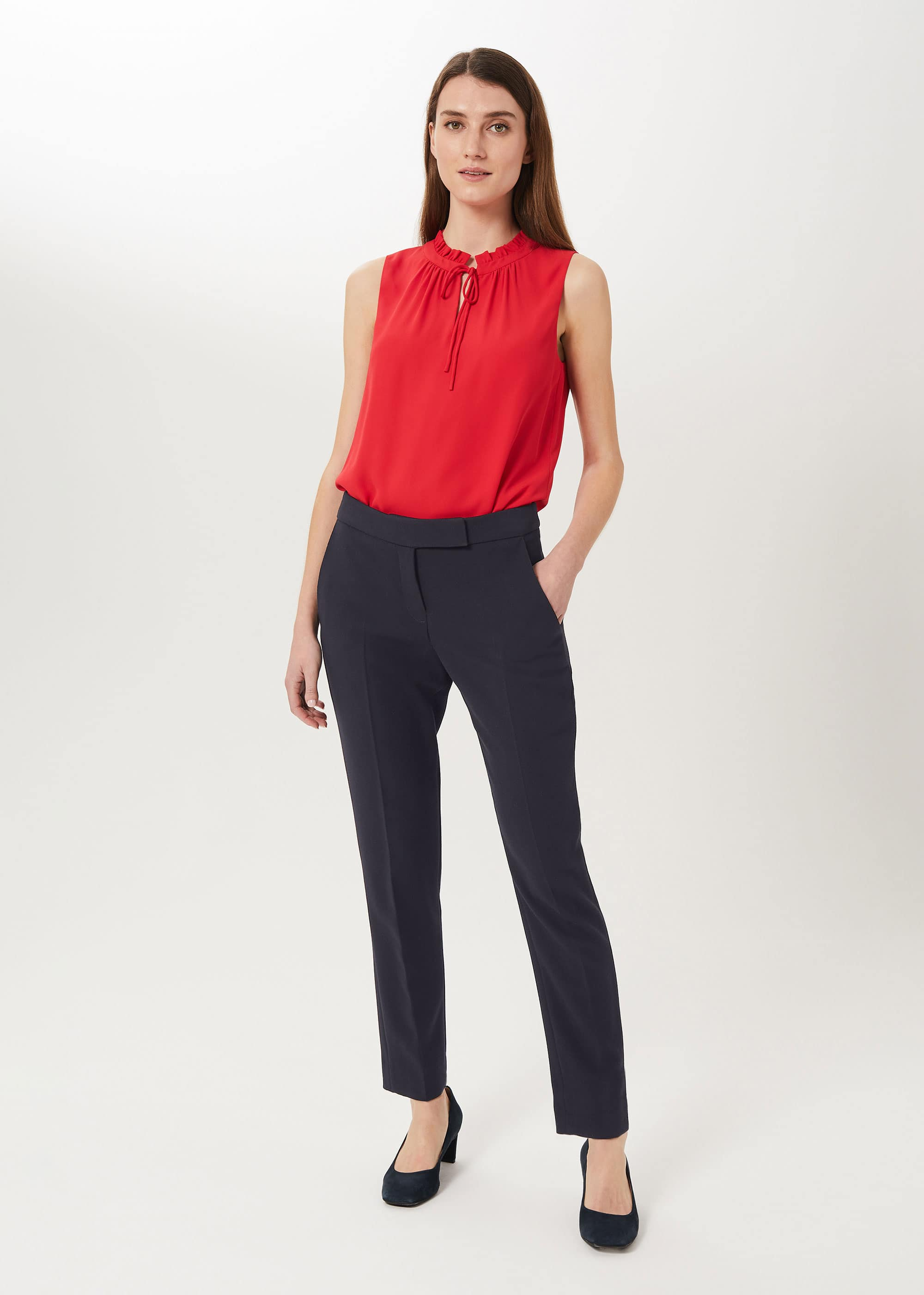 Hobbs Women Leila Slim Trousers With Stretch