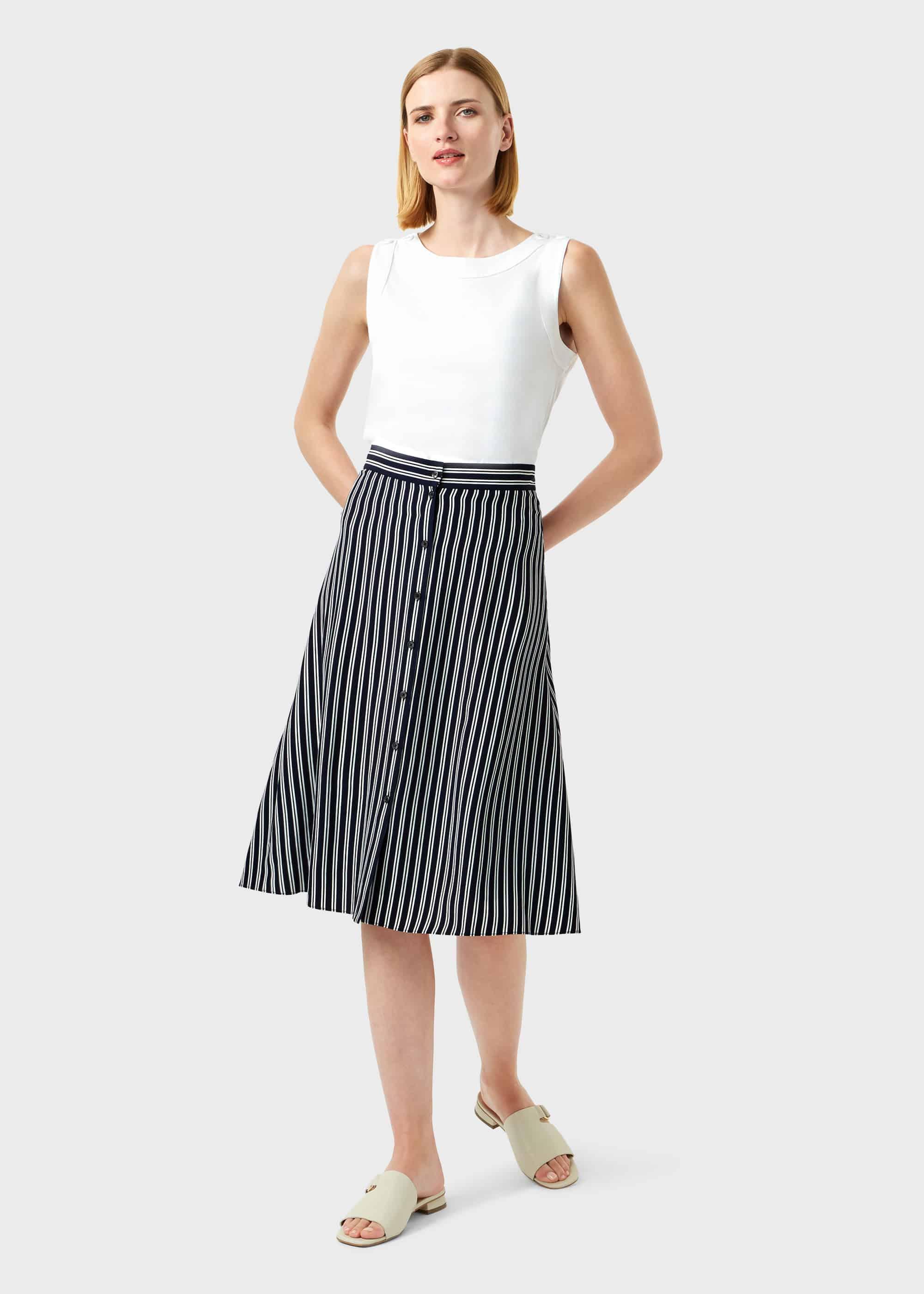 Hobbs Women Monroe Stripe A Line Skirt