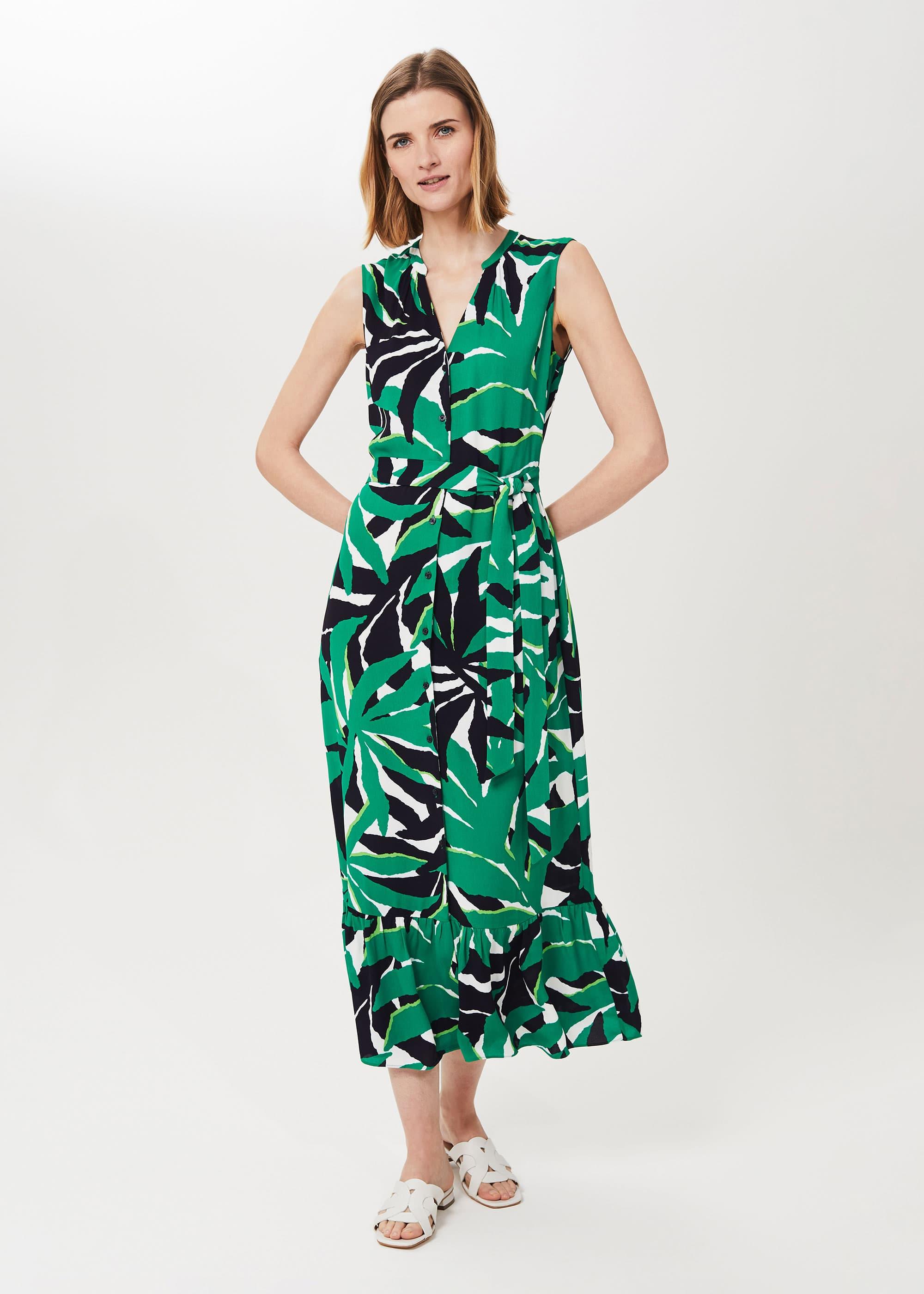 Hobbs Women Petite Laurenza Printed Midi Dress