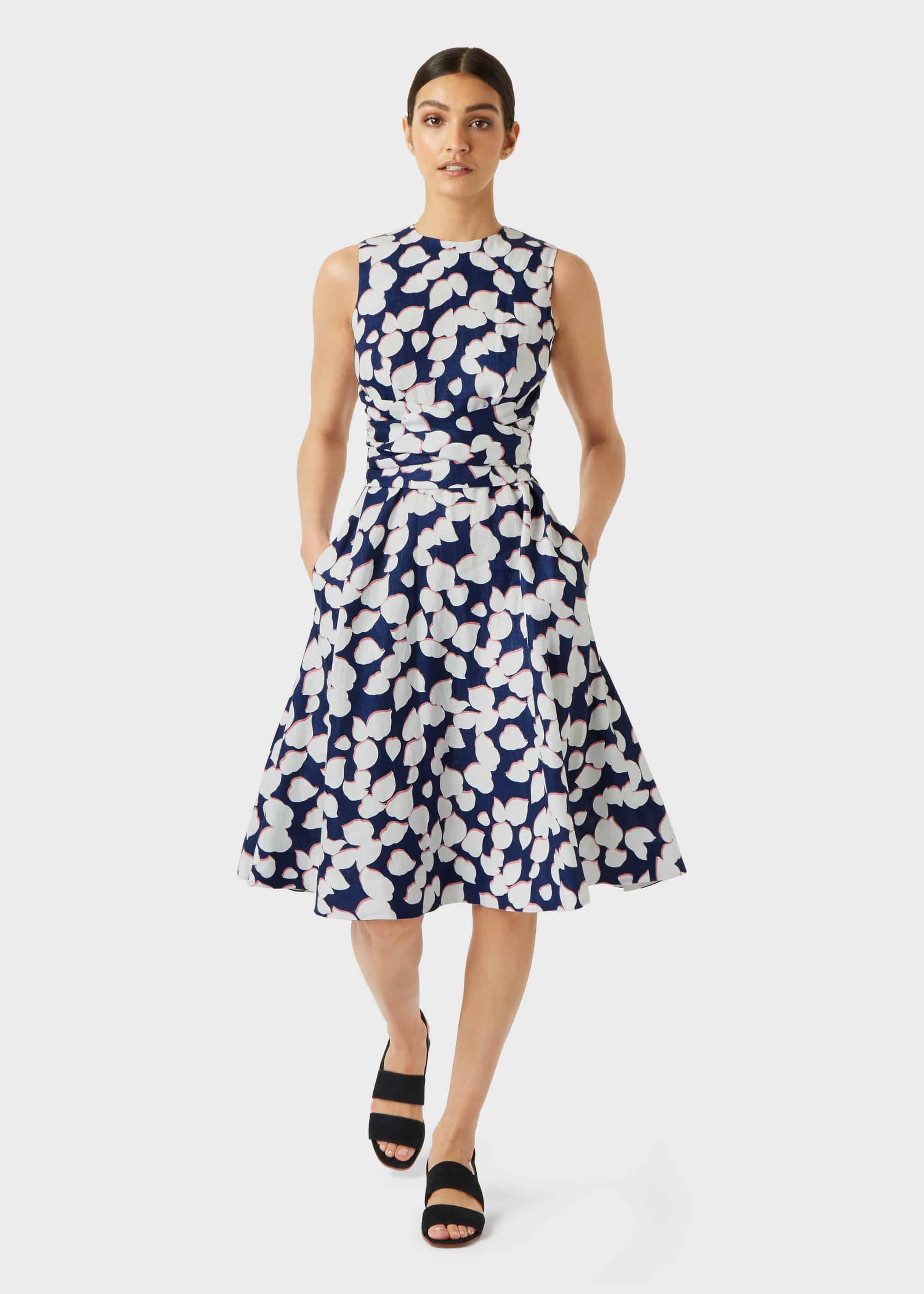 Hobbs Women Petite Linen Twitchill Dress