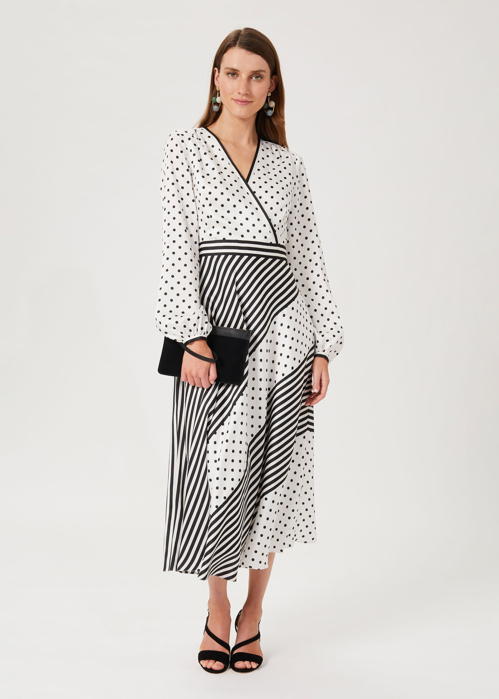 Hobbs Women Imogen Spot Stripe Dress