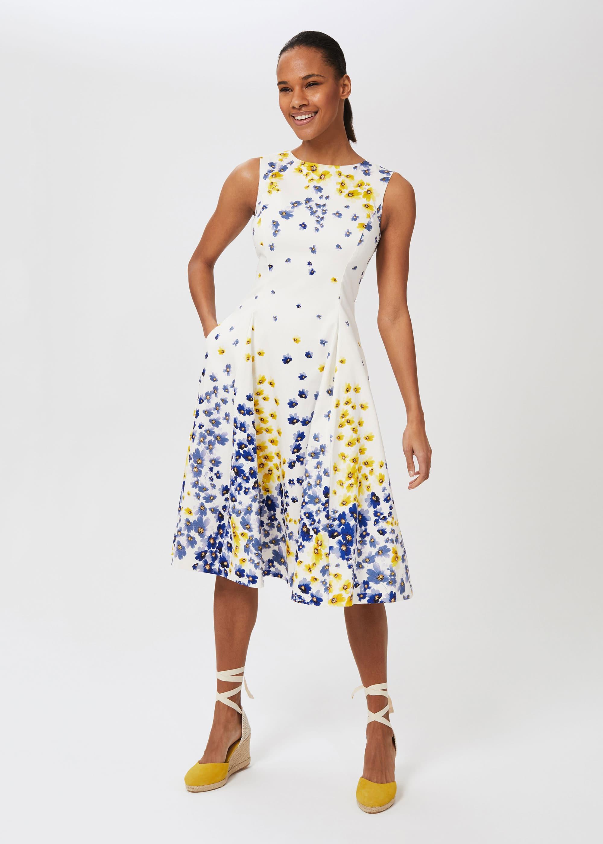 Hobbs Women Cleo Cotton Blend Floral Dress