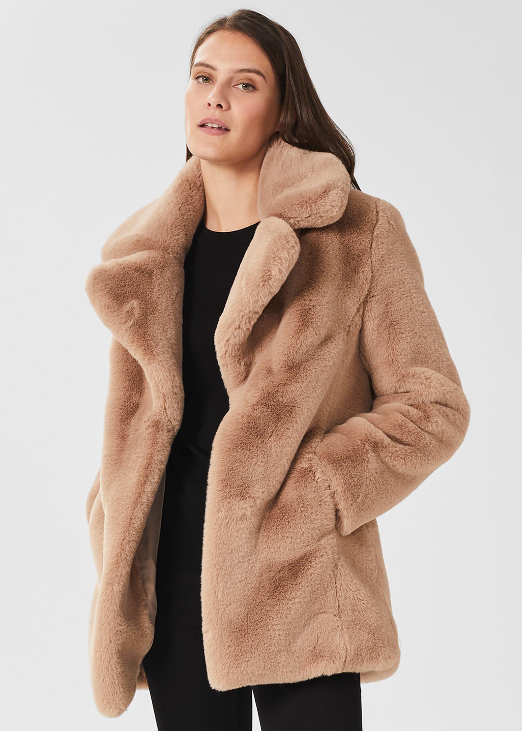 Hobbs Women Bethany Faux Fur Coat