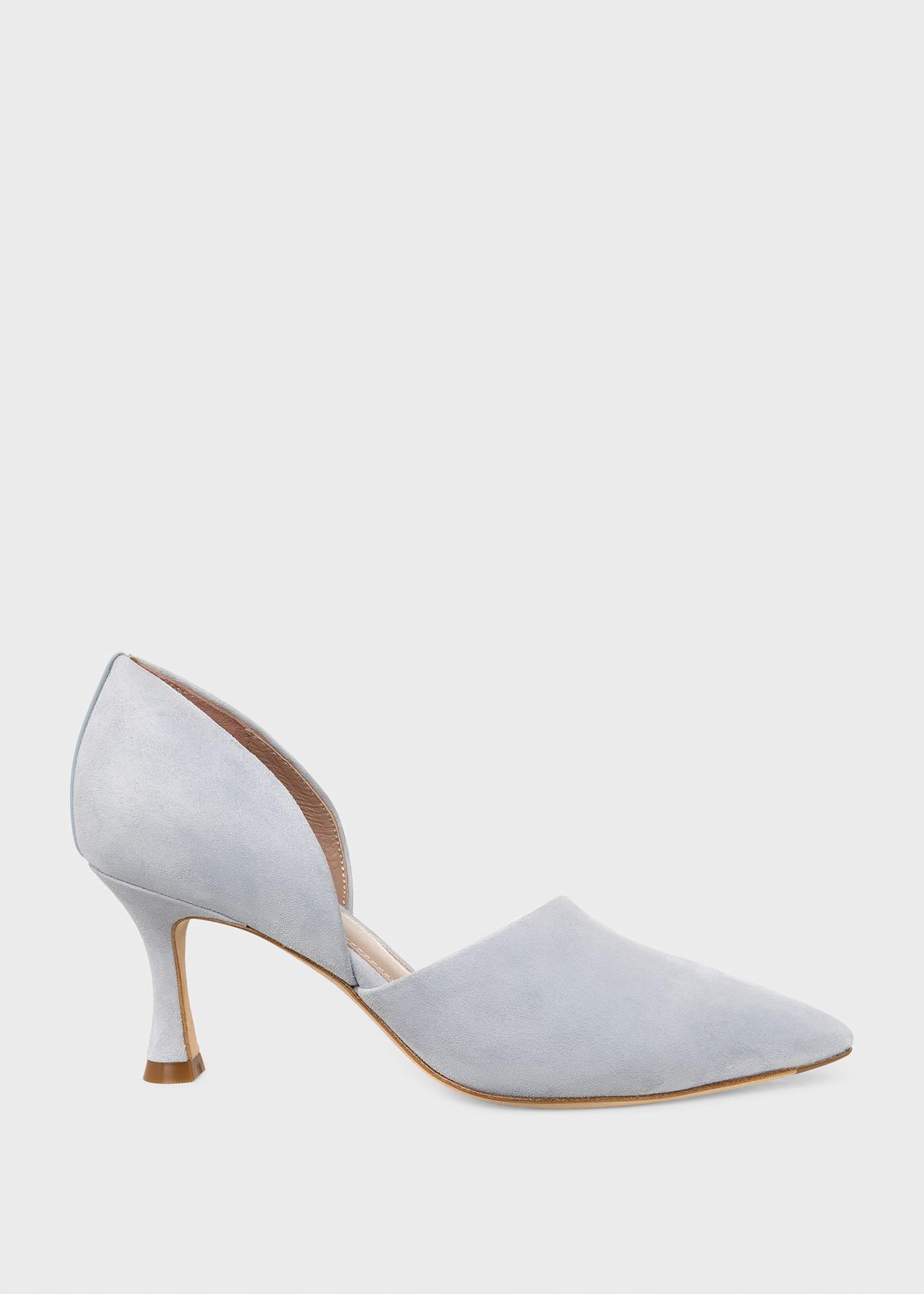Hobbs Women Maya Suede Stiletto D'Orsay Court Shoes