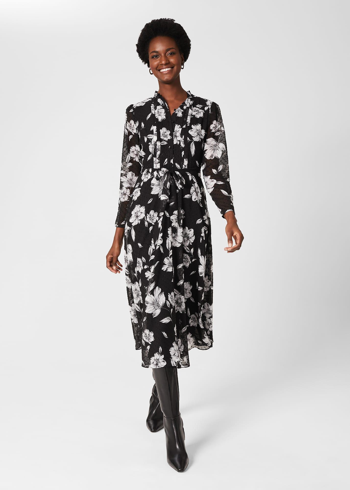 Hobbs Women Orla Floral Jacquard Midi Dress