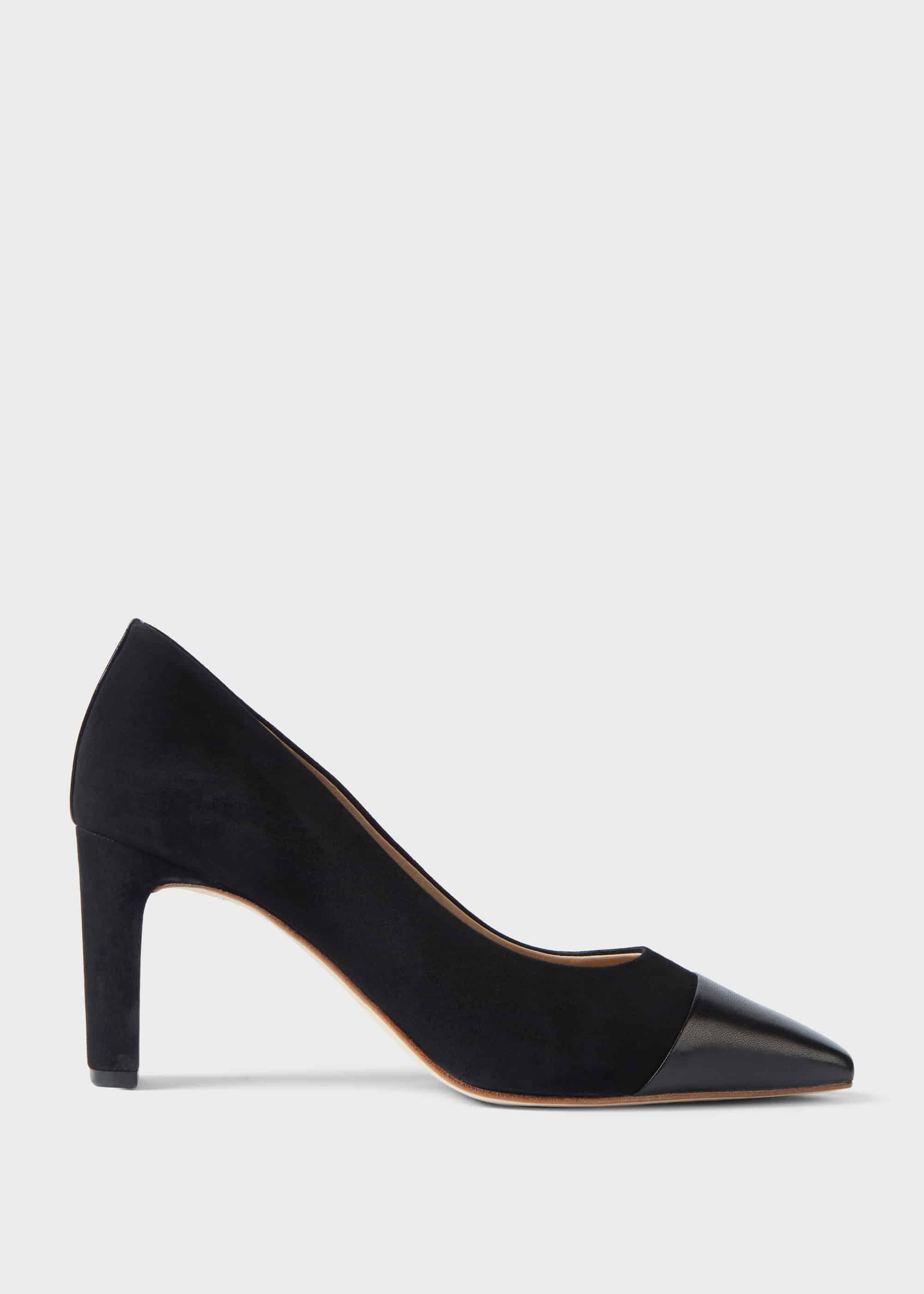 Hobbs Women Christina Suede Bock Heel Court Shoes