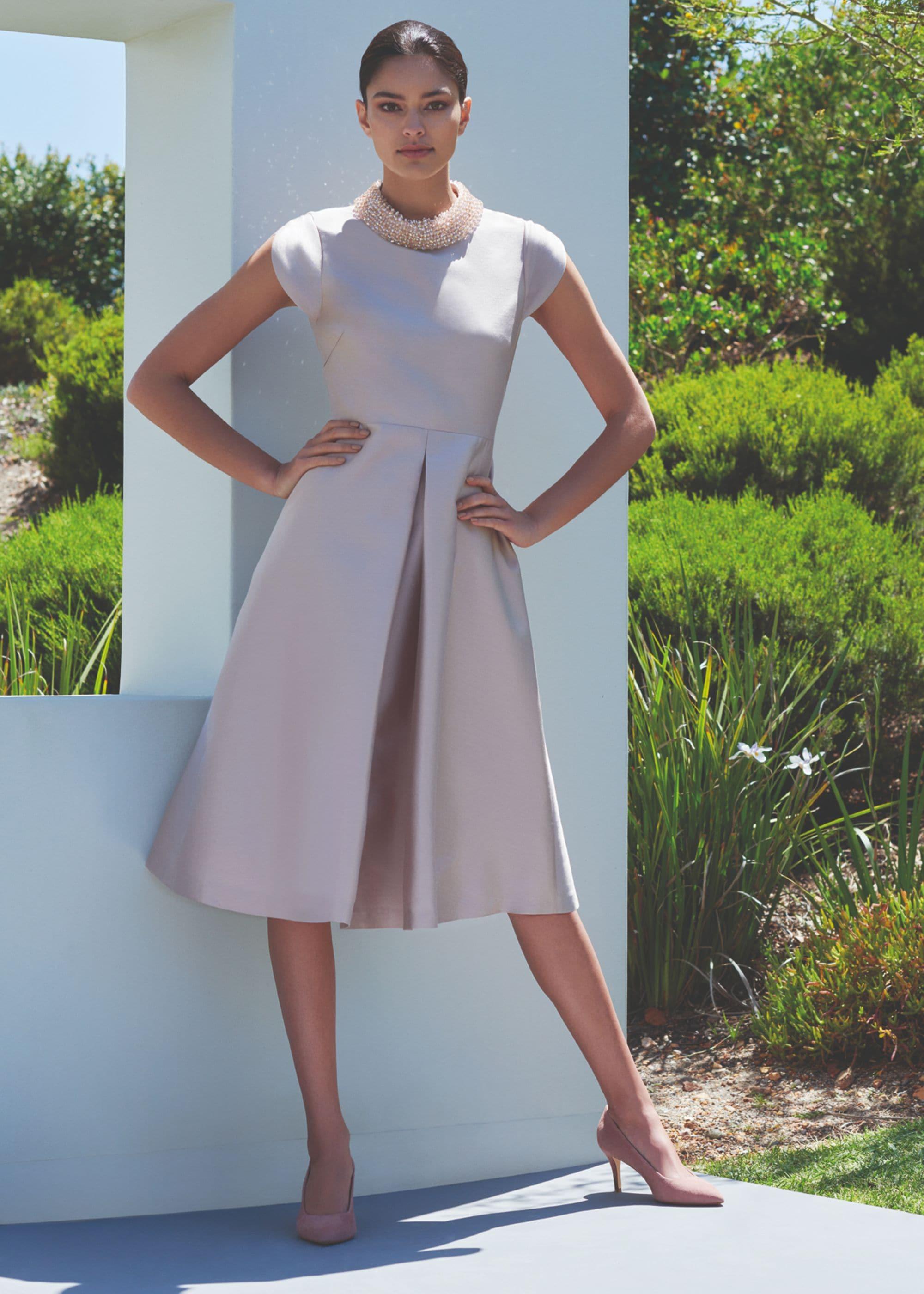 Hobbs Women Christie Silk Wool Embellished Dress