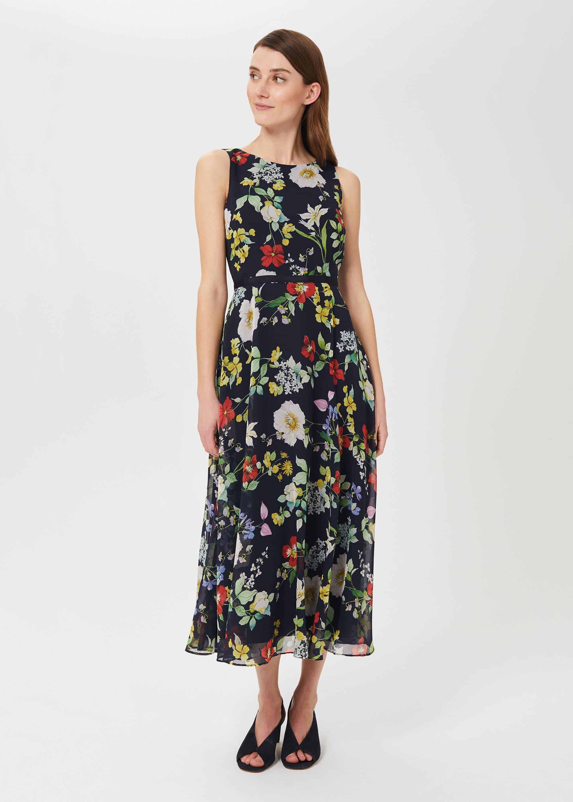 Hobbs Women Petite Carly Floral Midi Dress