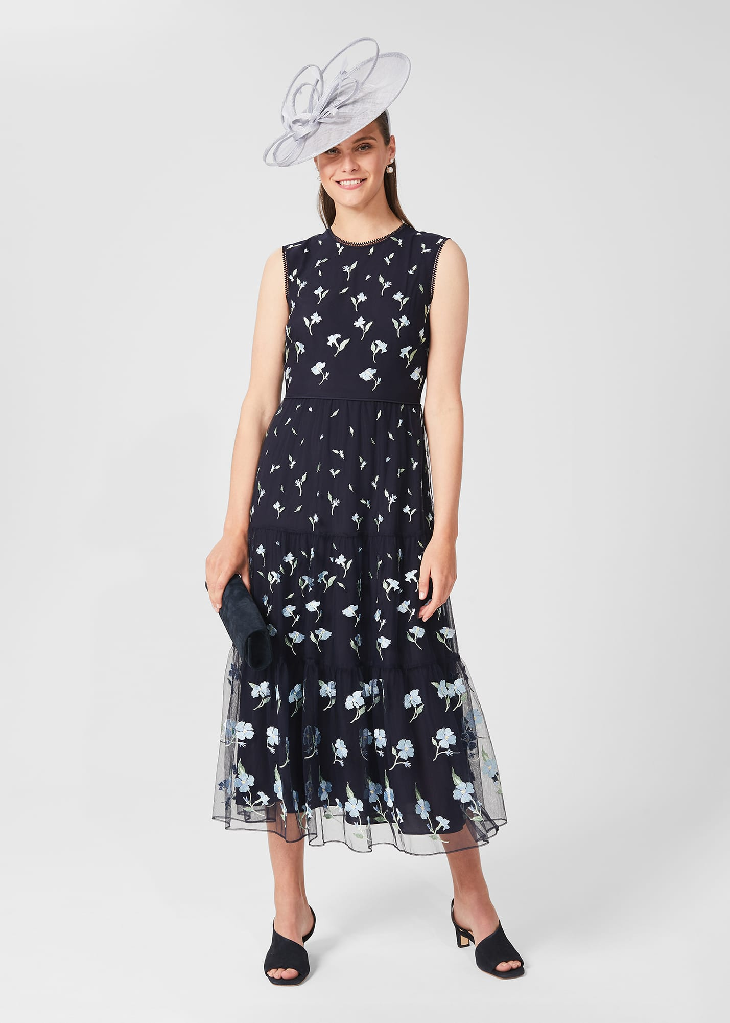 Hobbs Women Petite Bethany Embroidered Floral Dress