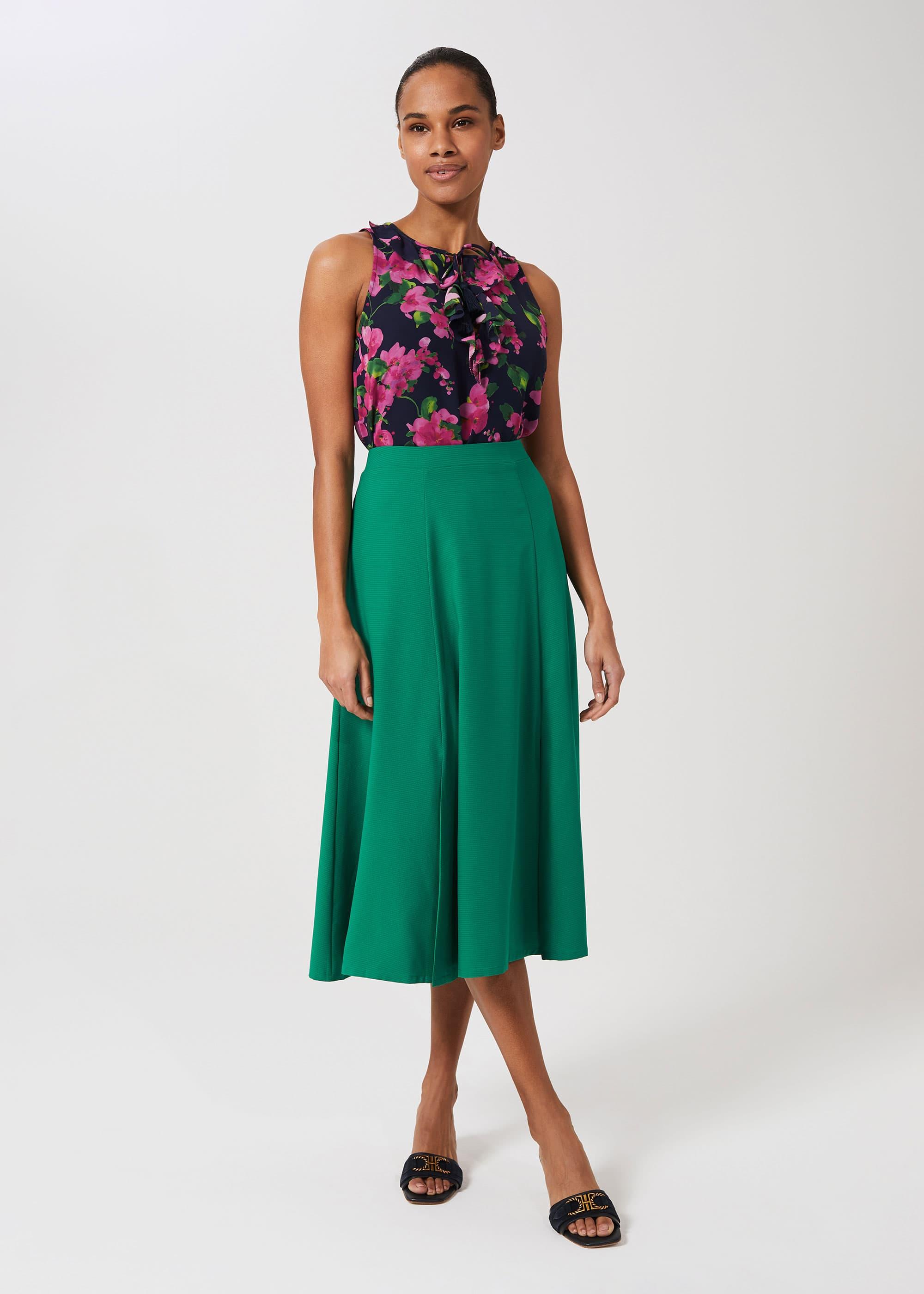 Hobbs Women Marie Satin Midi Skirt