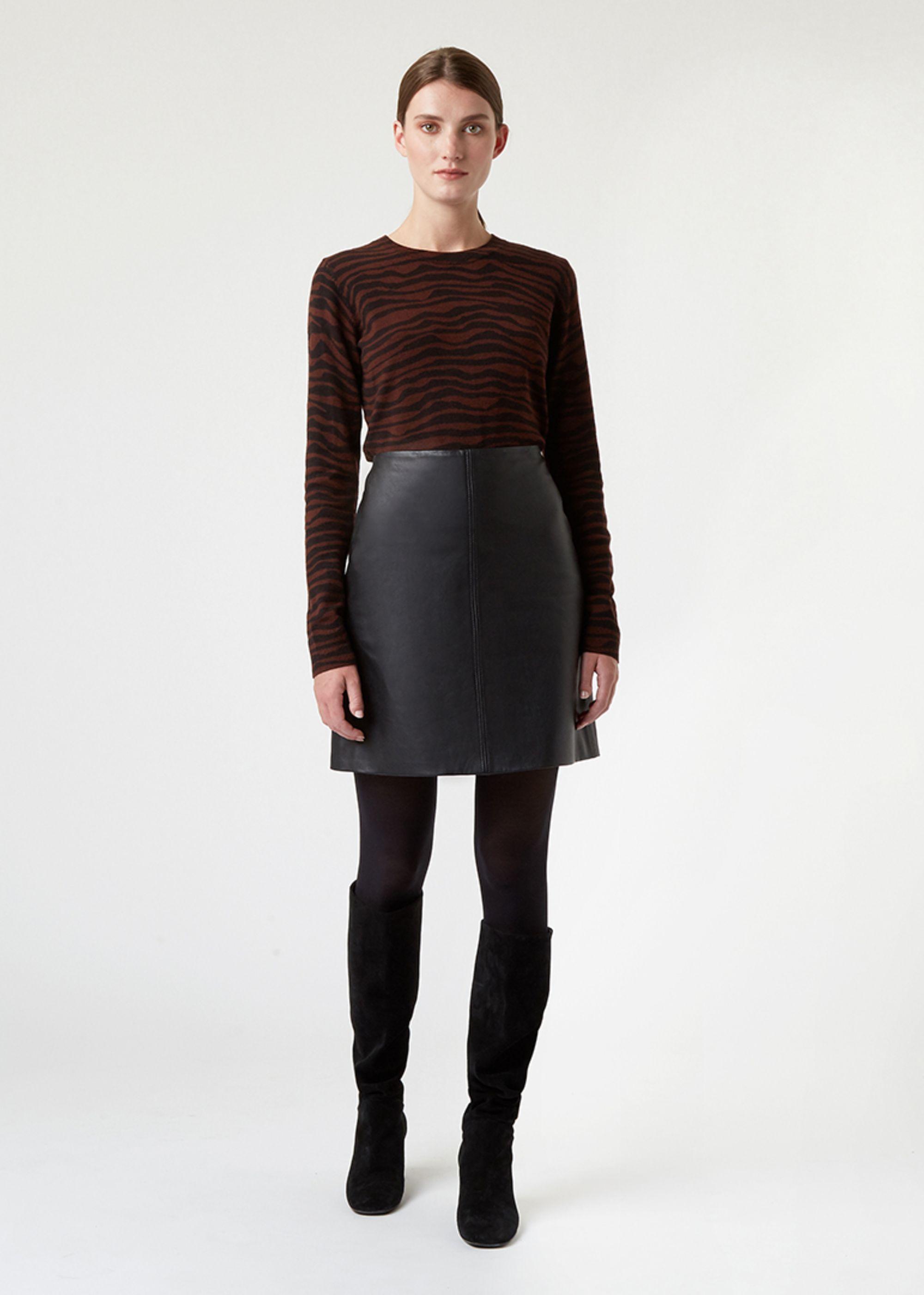 Hobbs Women Jenny Leather Skirt