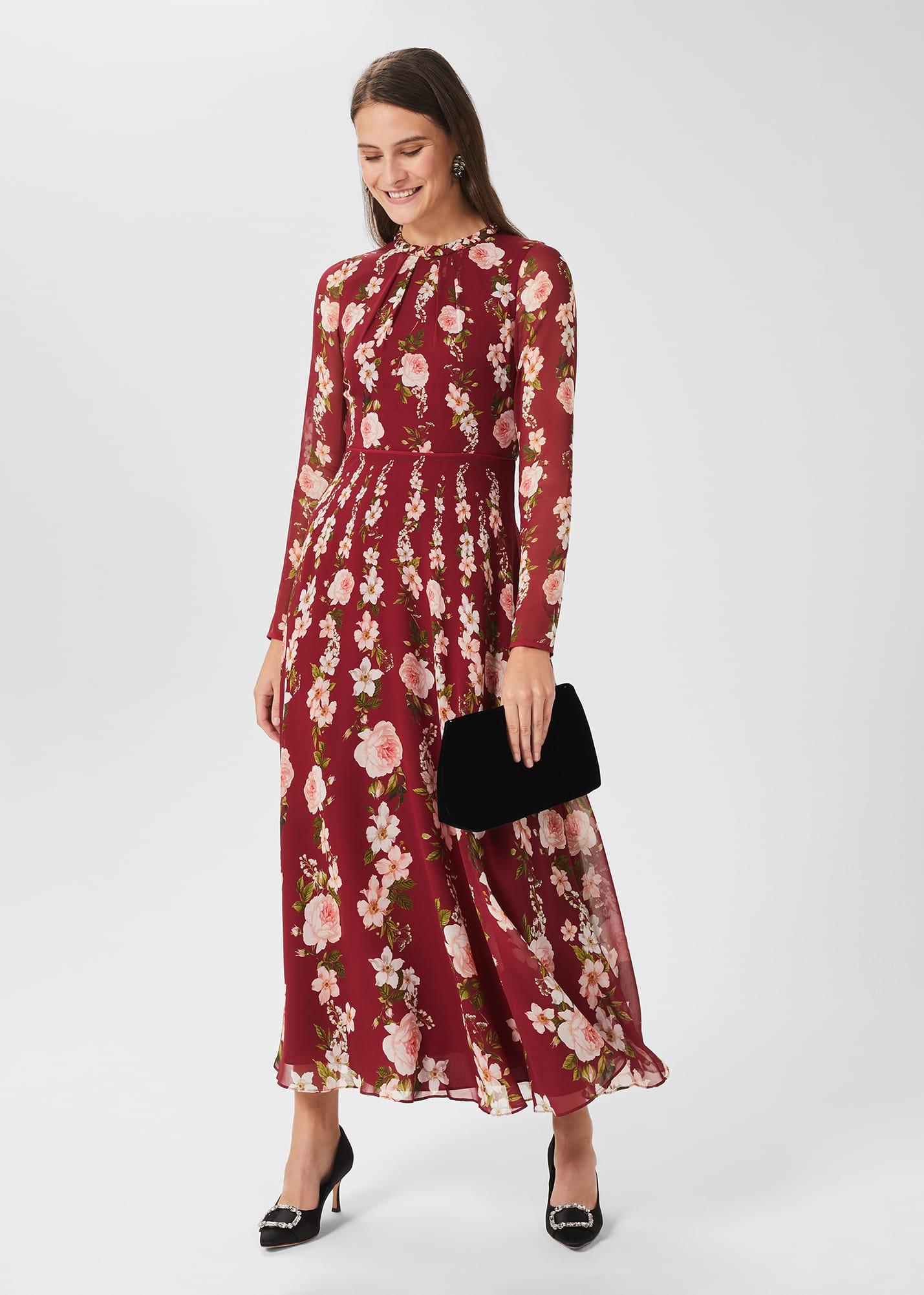 Hobbs Women Rosabelle Silk Floral Dress