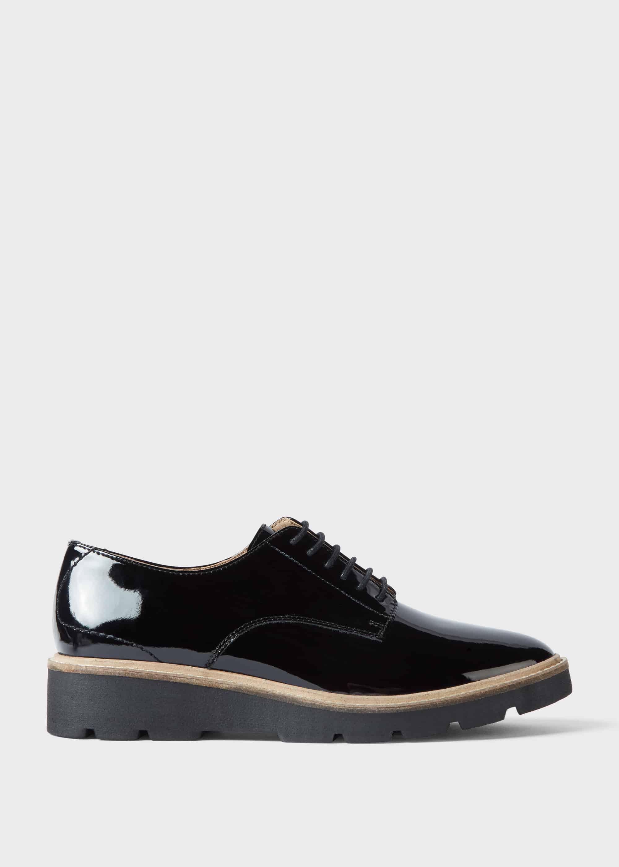 Hobbs Women Bloomsbury Patent Flat Shoes