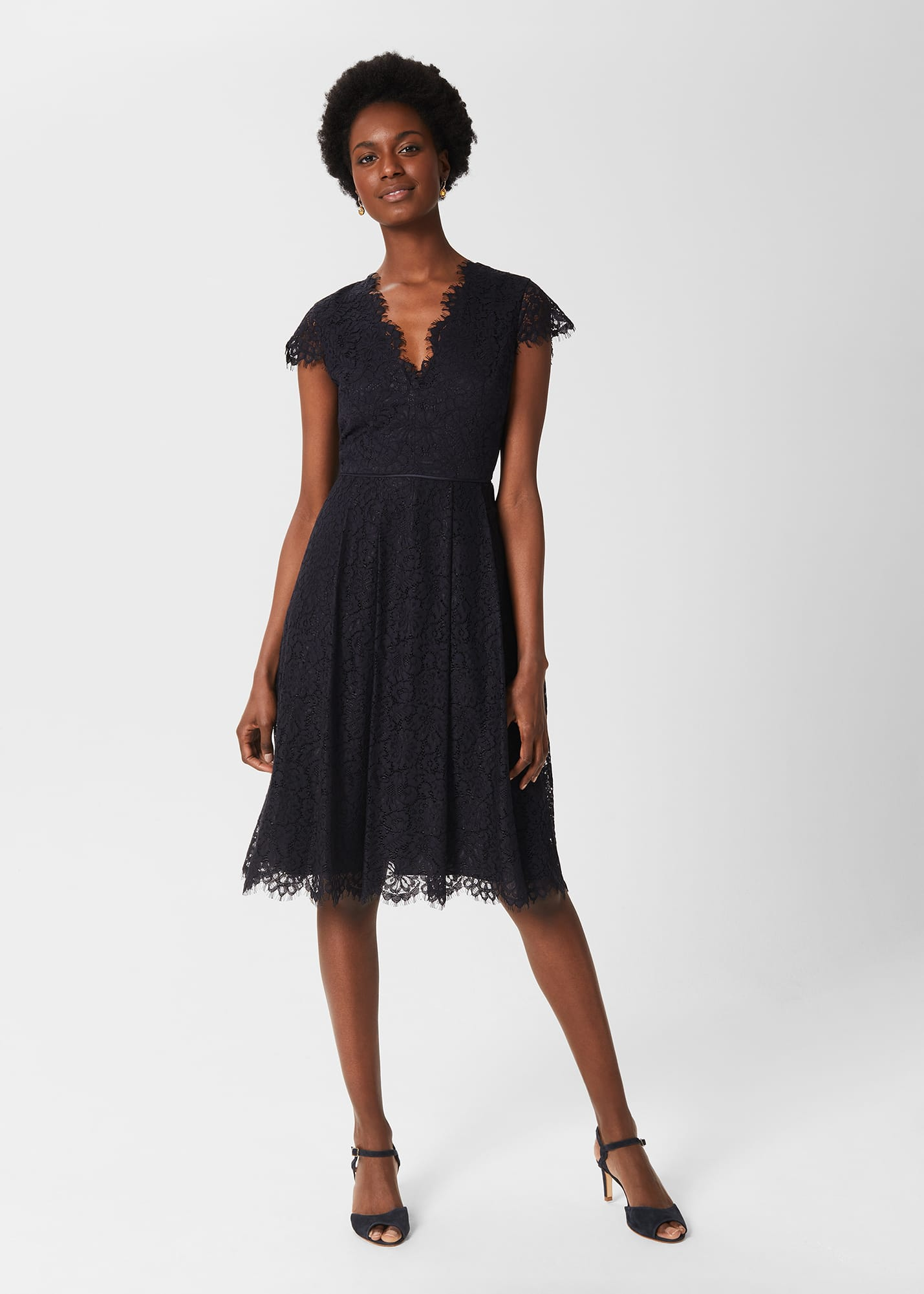 Hobbs Women Anastasia Lace Fit And Flare Dress