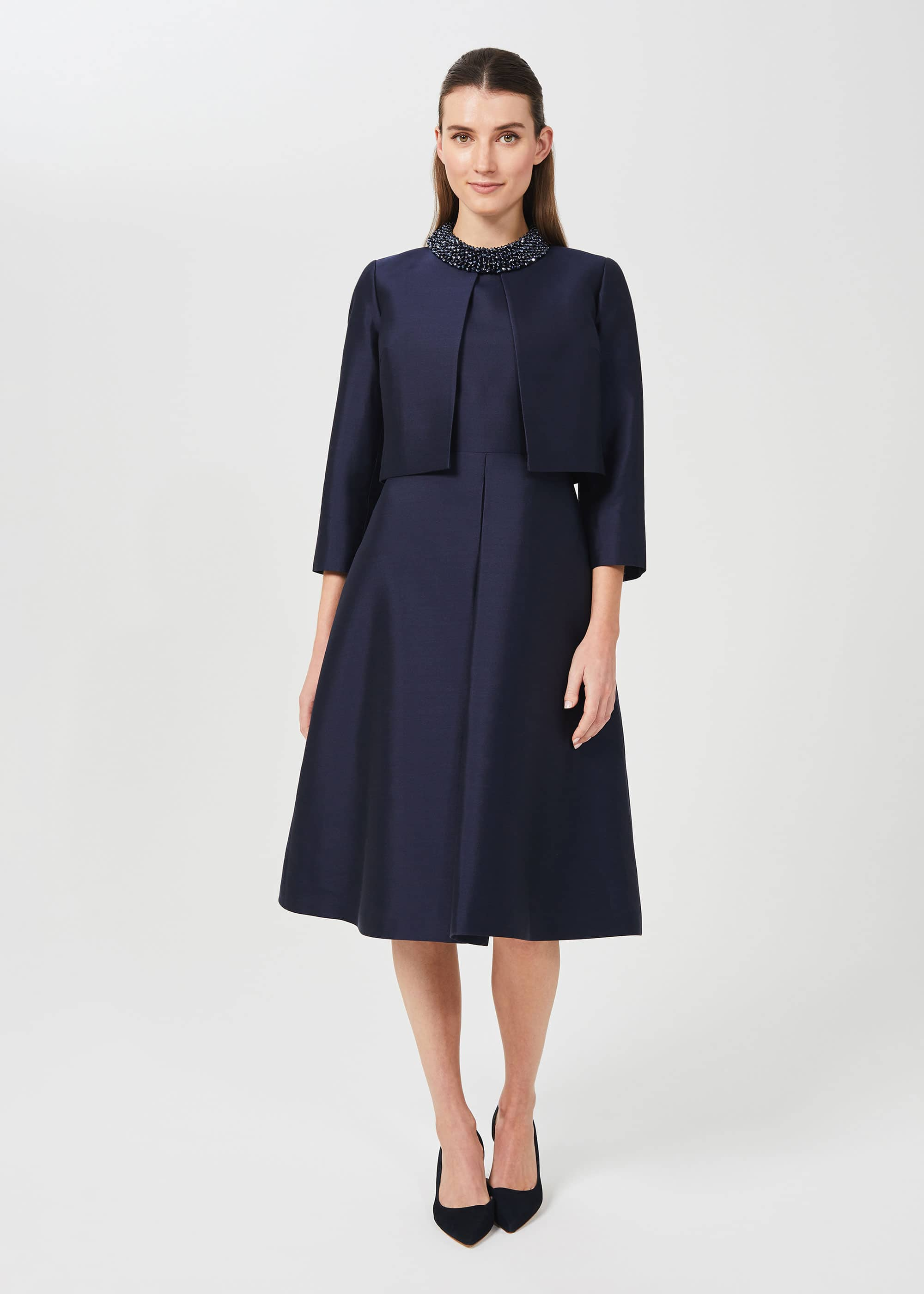 Hobbs Women Christie Silk Wool Jacket