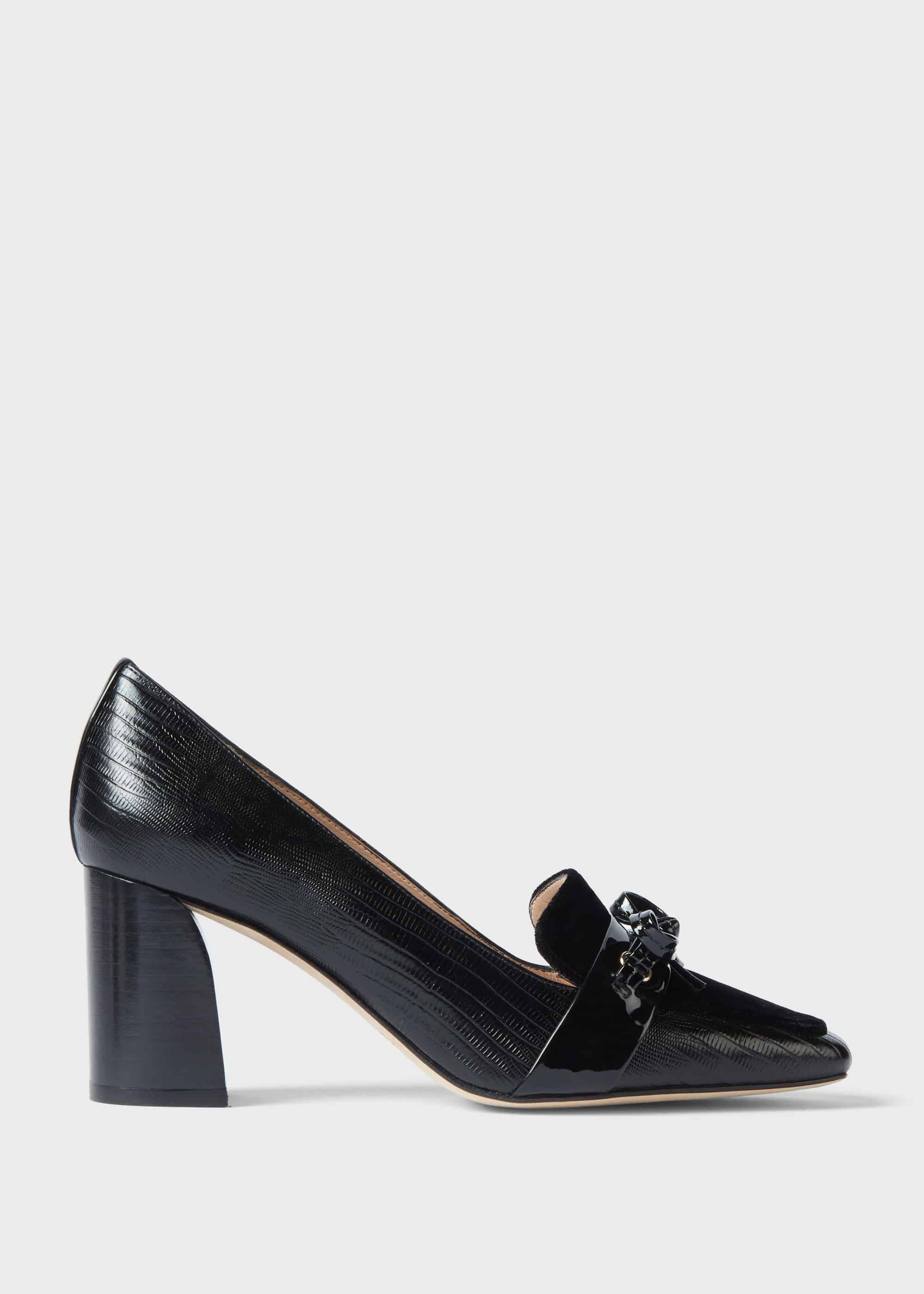 Hobbs Women Katherine Leather Reptile Court Shoes