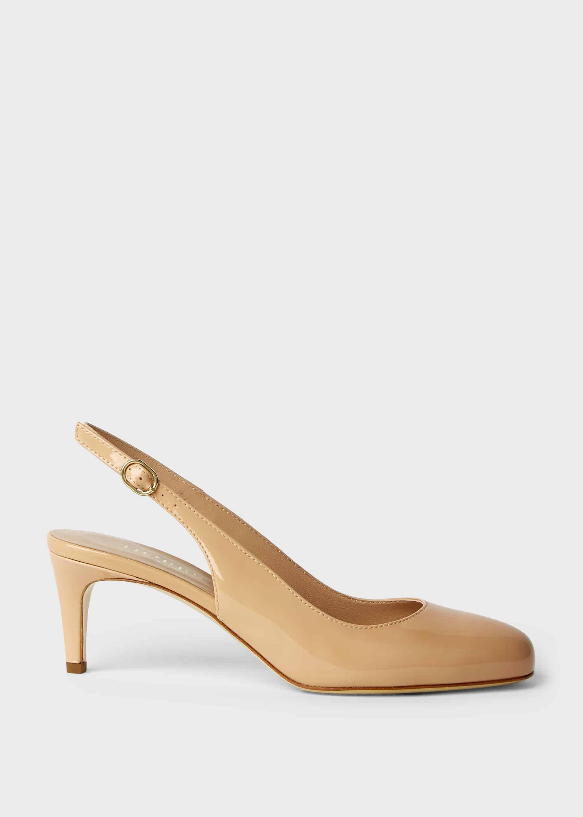 Hobbs Women Emma Patent Stiletto Slingback Court Shoes