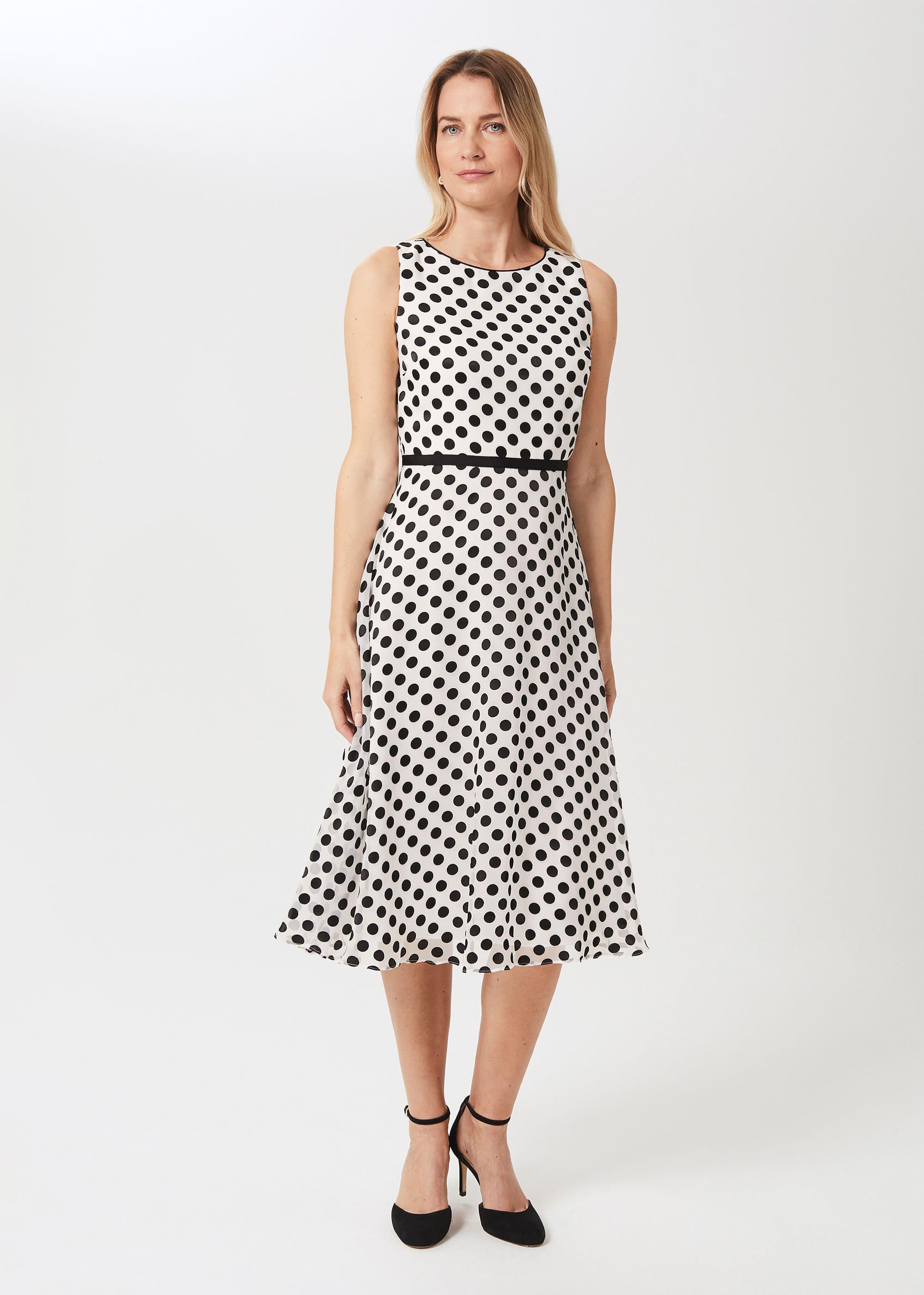 Hobbs Women Adeline Jacquard Spot Dress