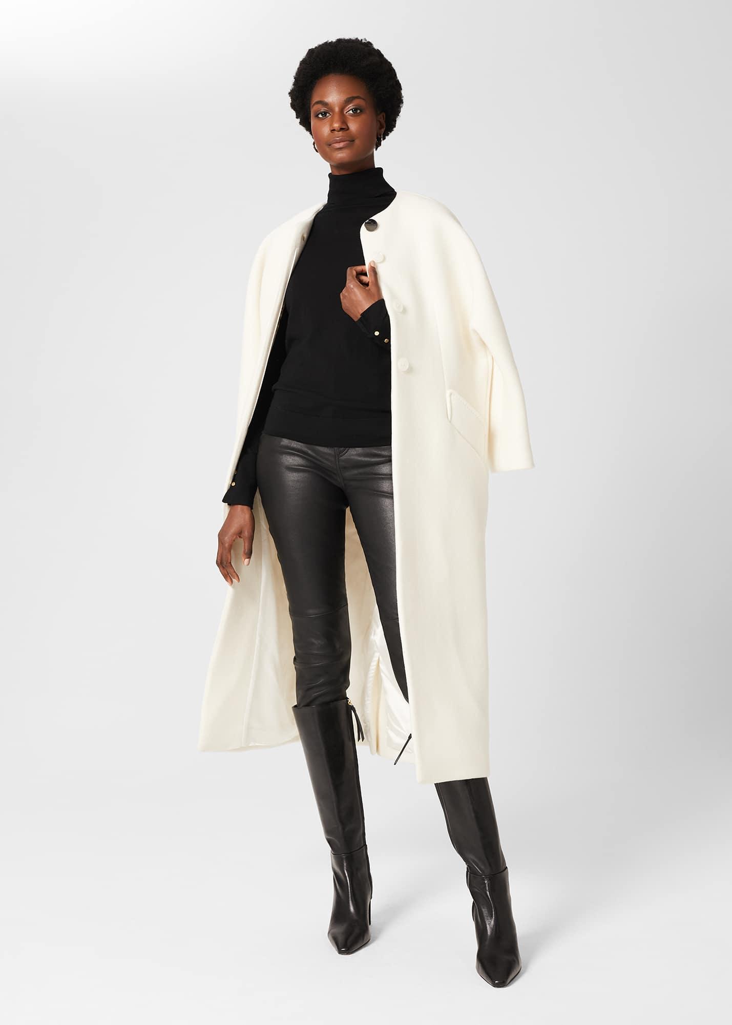 Hobbs Women Tabatha Wool Blend Long Coat