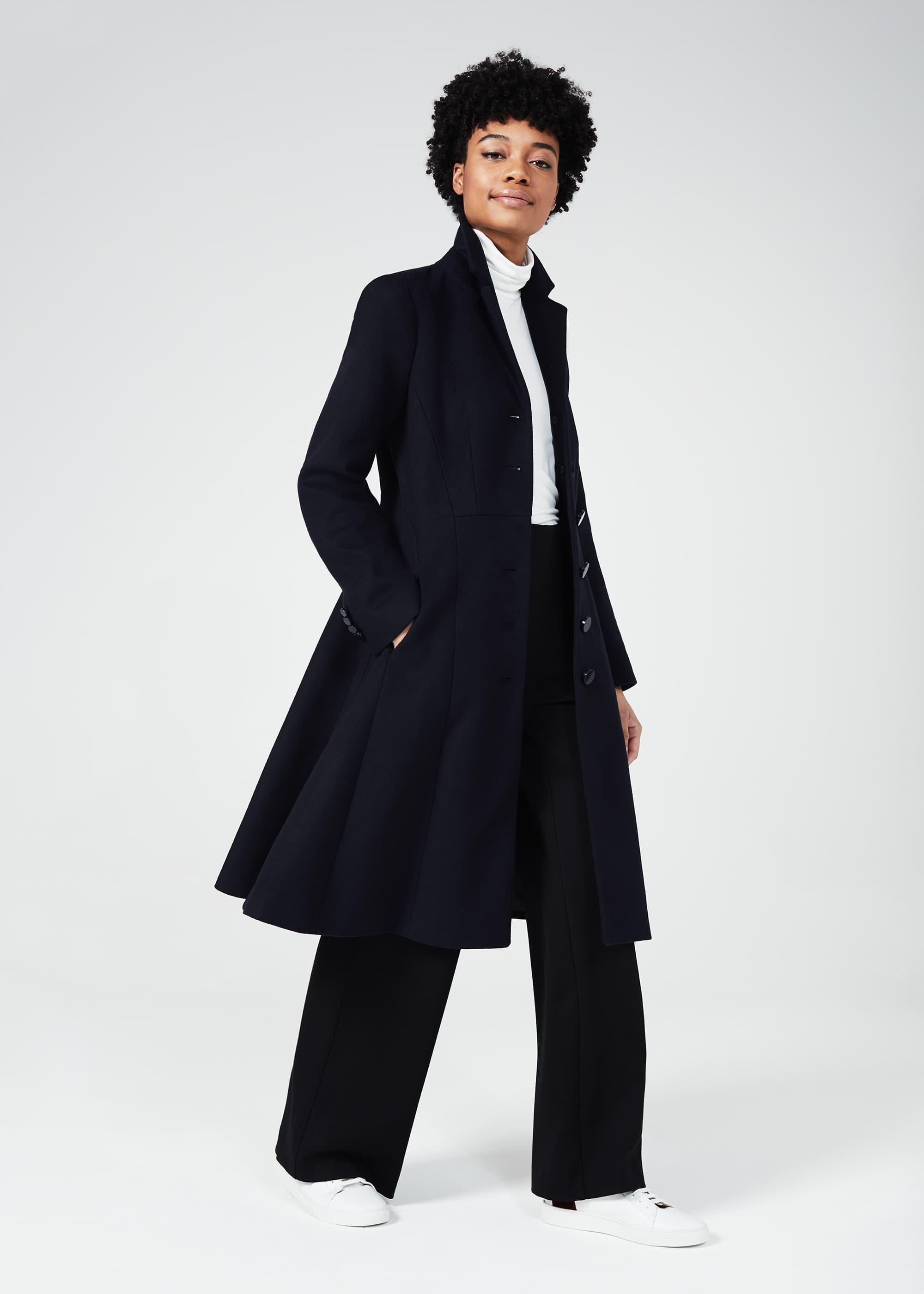 Hobbs Women Petite Milly Wool Blend Coat