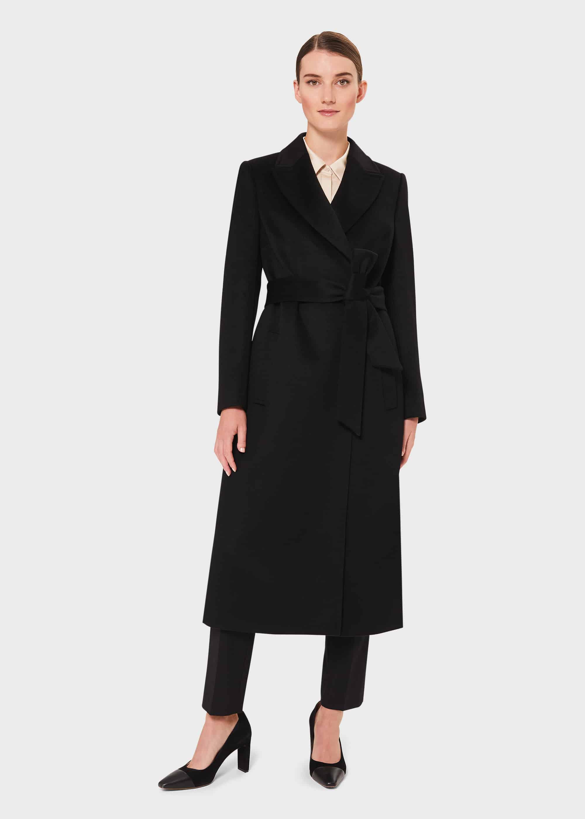 Hobbs Women Petite Olivia Wool Wrap Coat