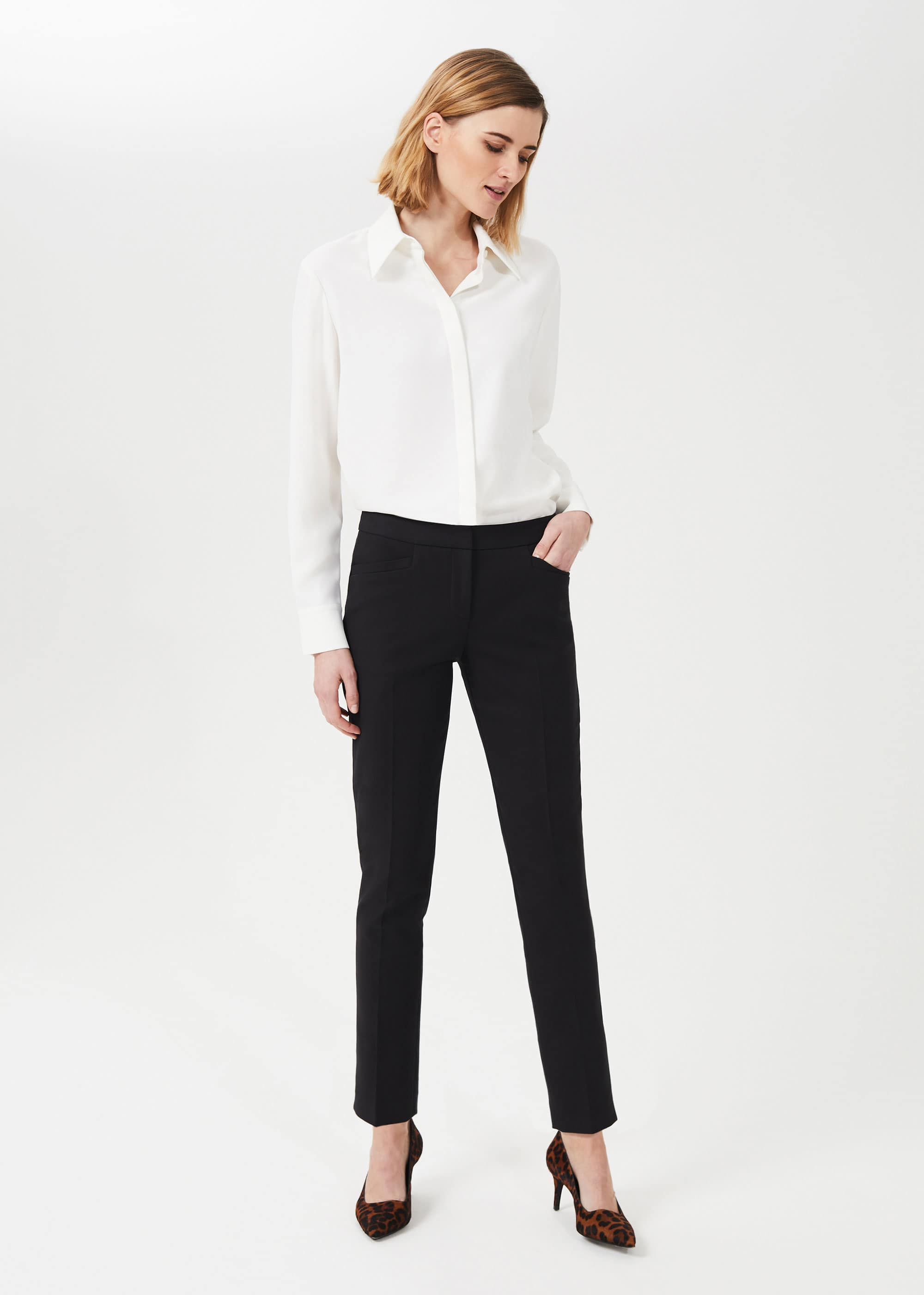 Hobbs Women Hailey Slim Trousers With Stretch
